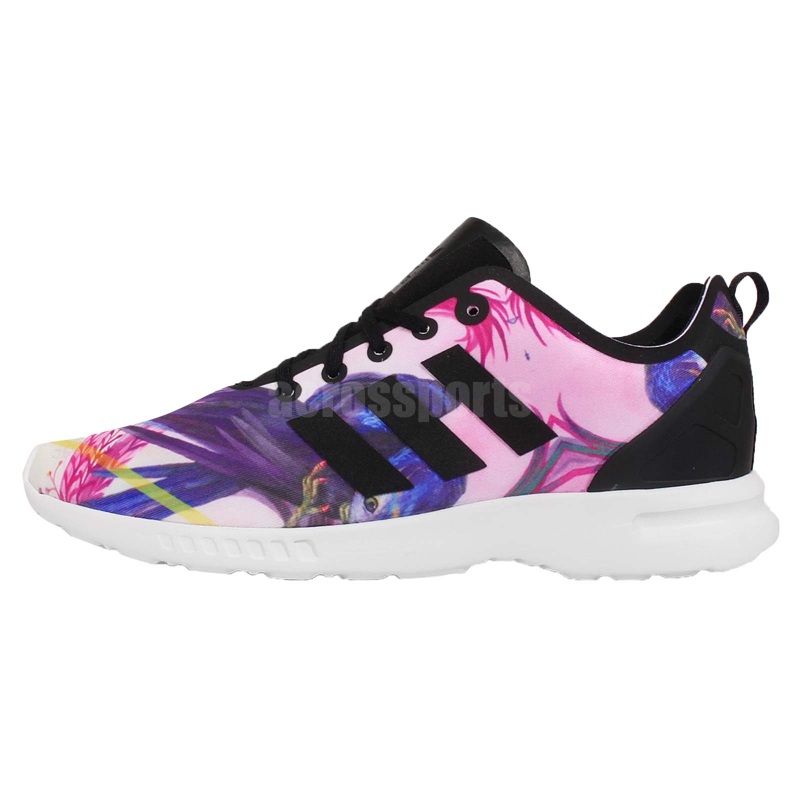 adidas Originals ZX Flux Smooth W Zebra Print Floral Womens Running Shoes S82937