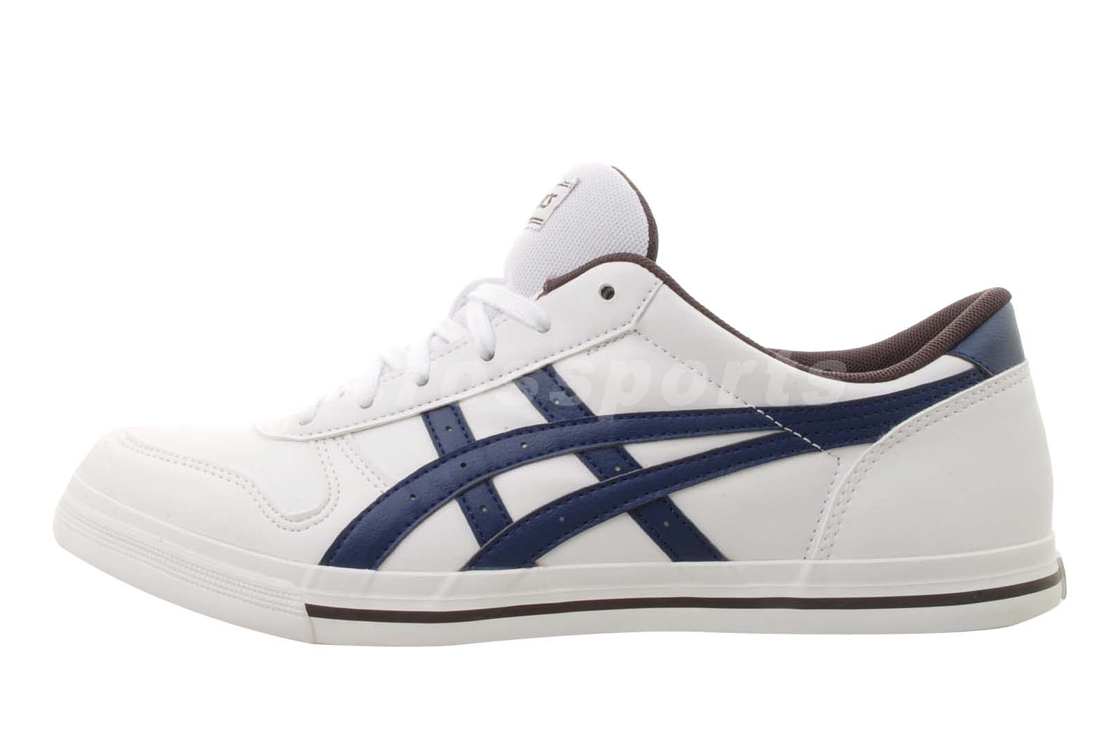 asics aaron white blue mens womens classic casual