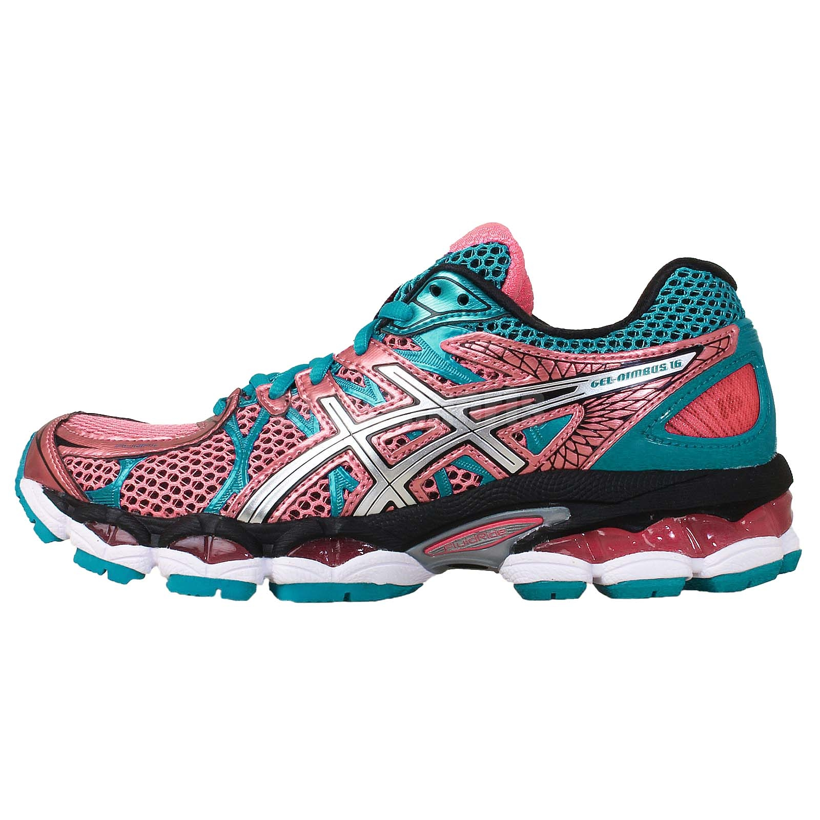 asics gel nimbus 16 pink blue womens jogging running shoes trainers t485n 3497 ebay. Black Bedroom Furniture Sets. Home Design Ideas