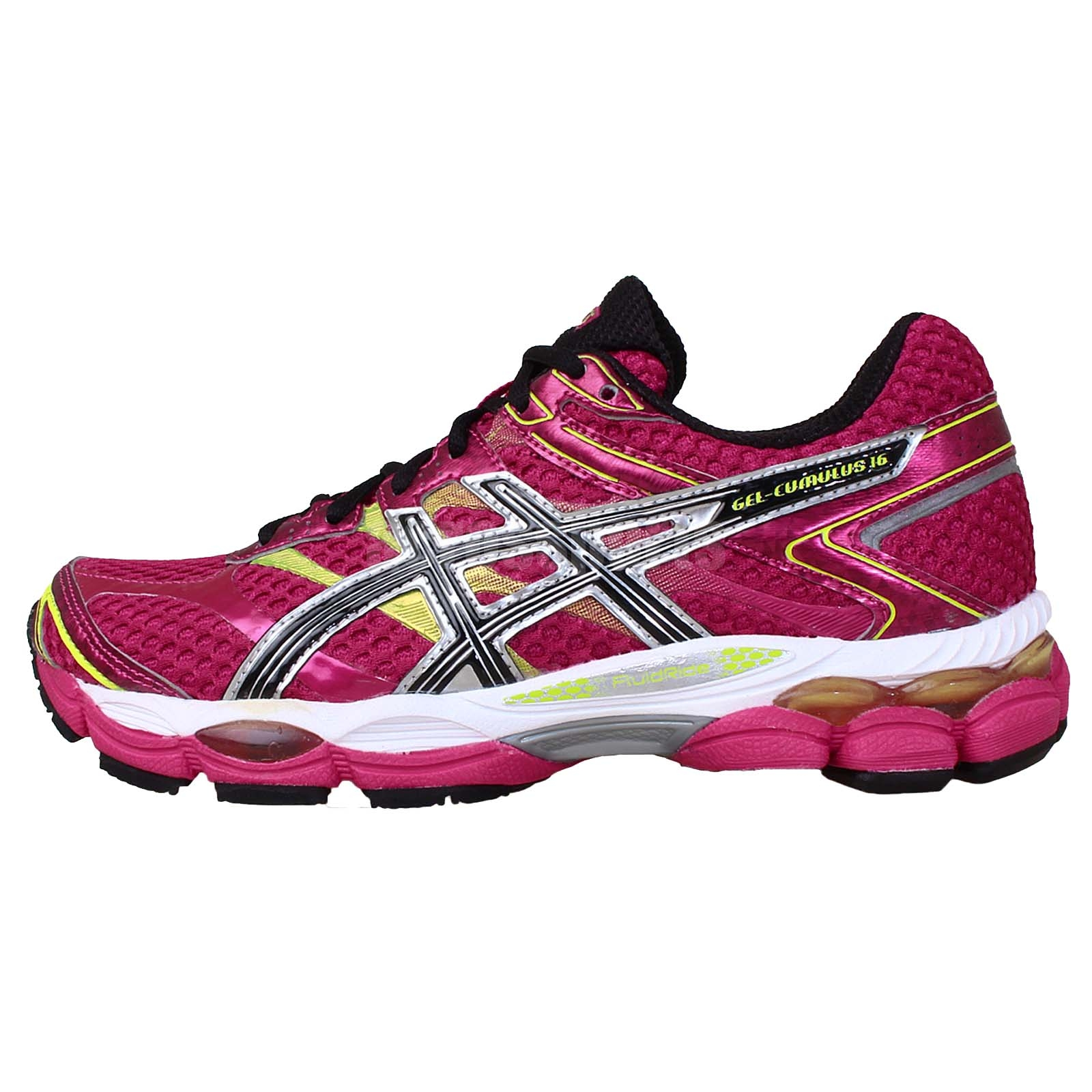 asics gel cumulus 16 raspberry black womens running shoes trainers t489n 2190 ebay. Black Bedroom Furniture Sets. Home Design Ideas