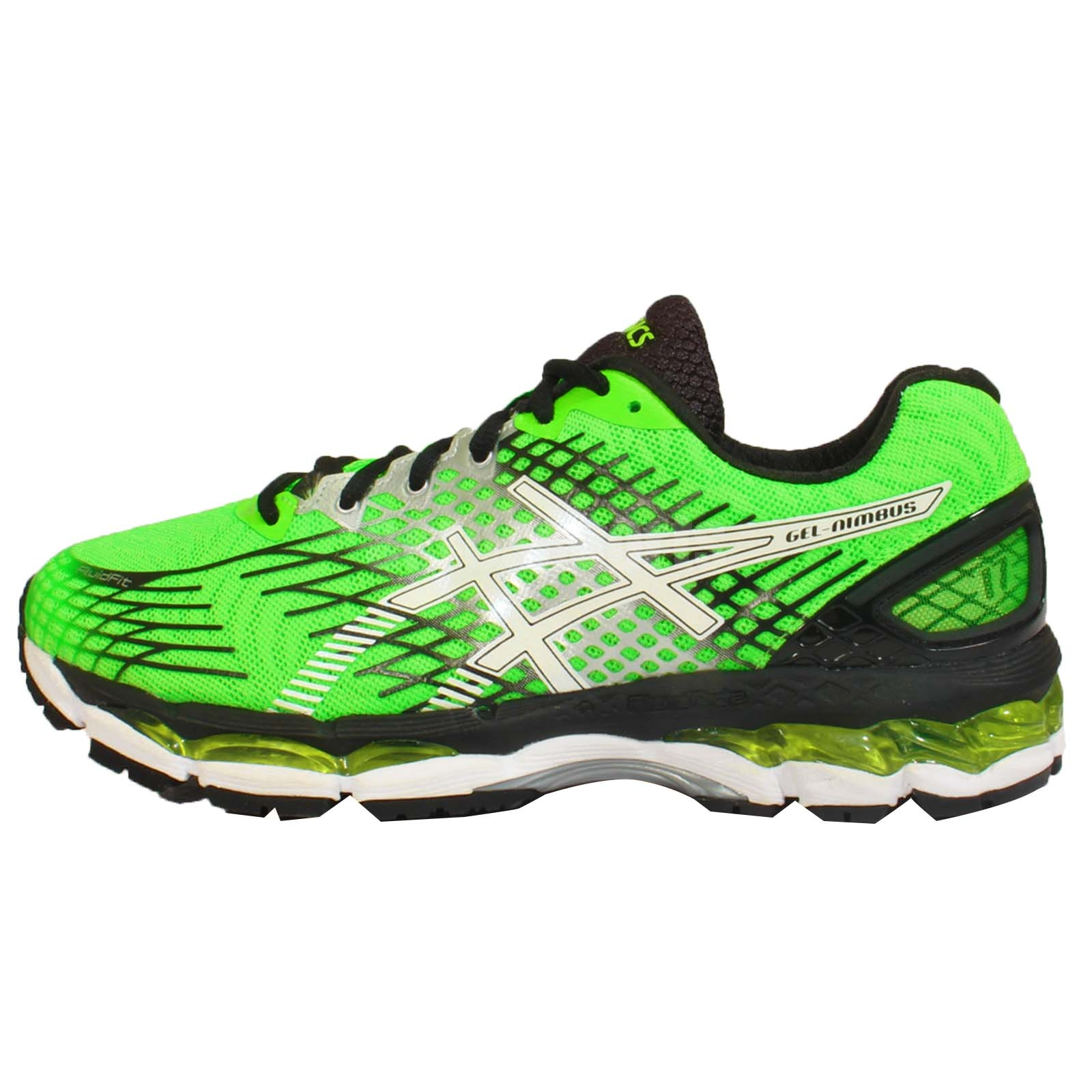 asics gel nimbus 17 2e wide green black mens running shoes t508n 8501 ebay. Black Bedroom Furniture Sets. Home Design Ideas