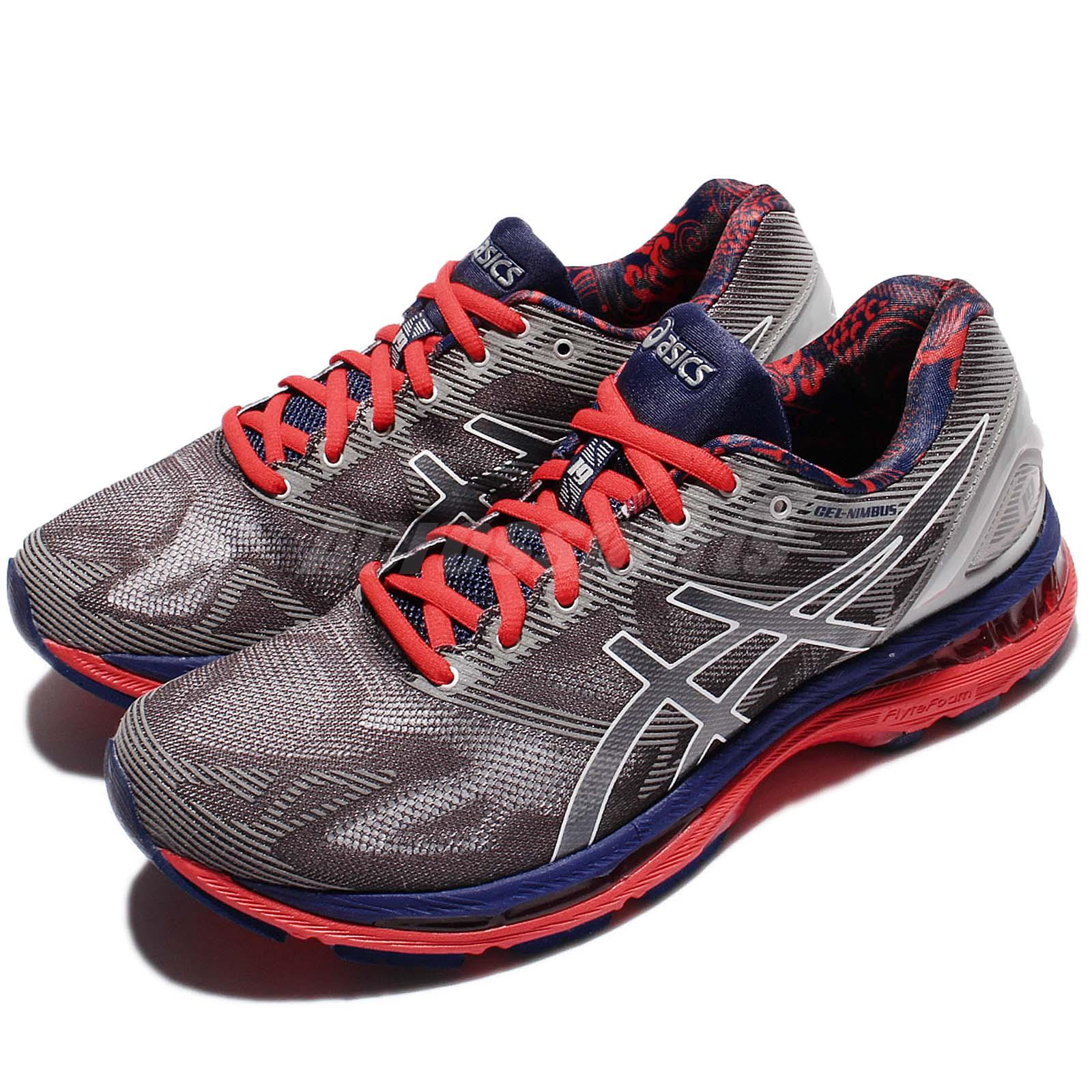 asics gel nimbus 19 lite show grey navy men running shoes sneakers t704n 9701 auctions buy and. Black Bedroom Furniture Sets. Home Design Ideas