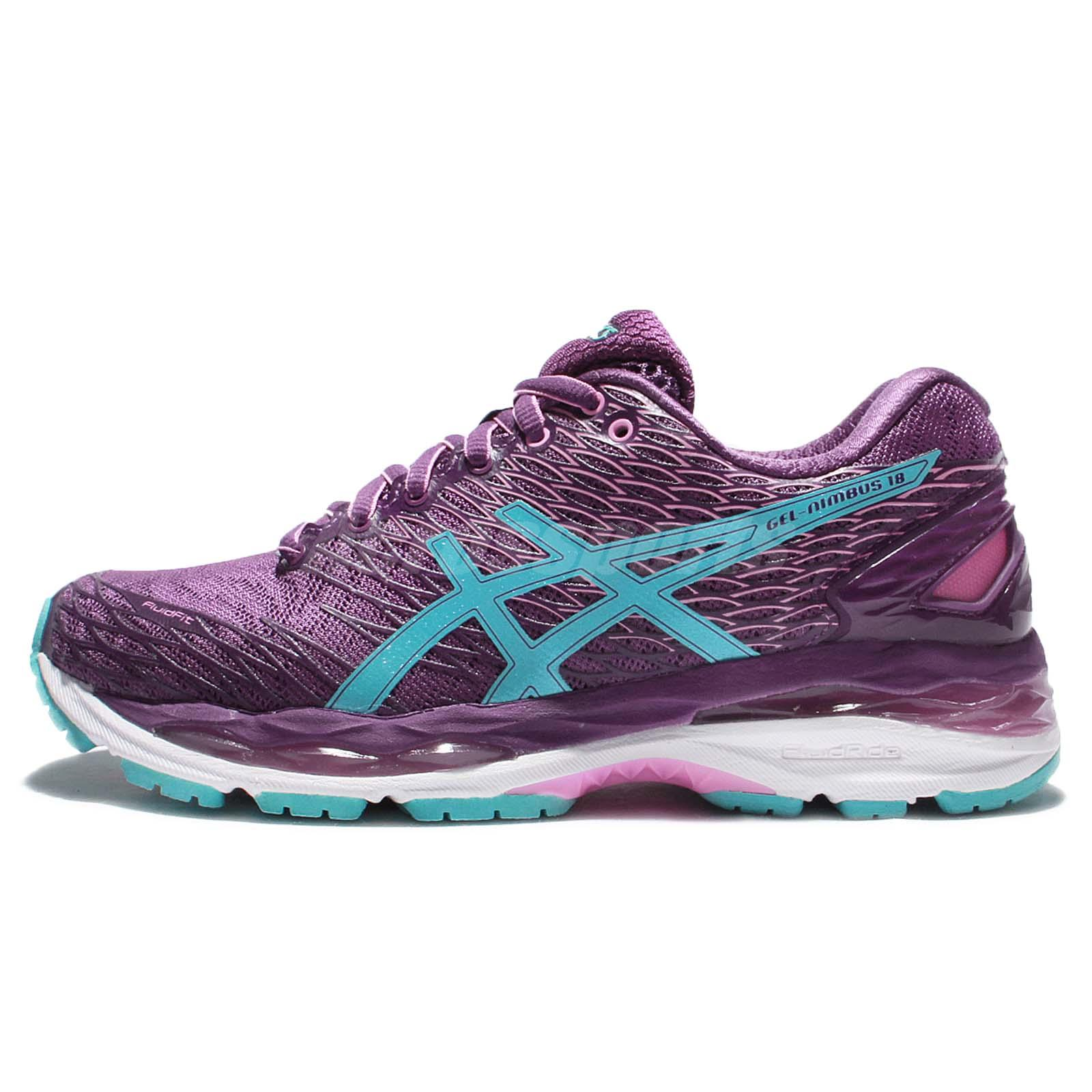 asics lady gel nimbus 18 wide purple blue womens running shoes tjg512 3340 ebay. Black Bedroom Furniture Sets. Home Design Ideas