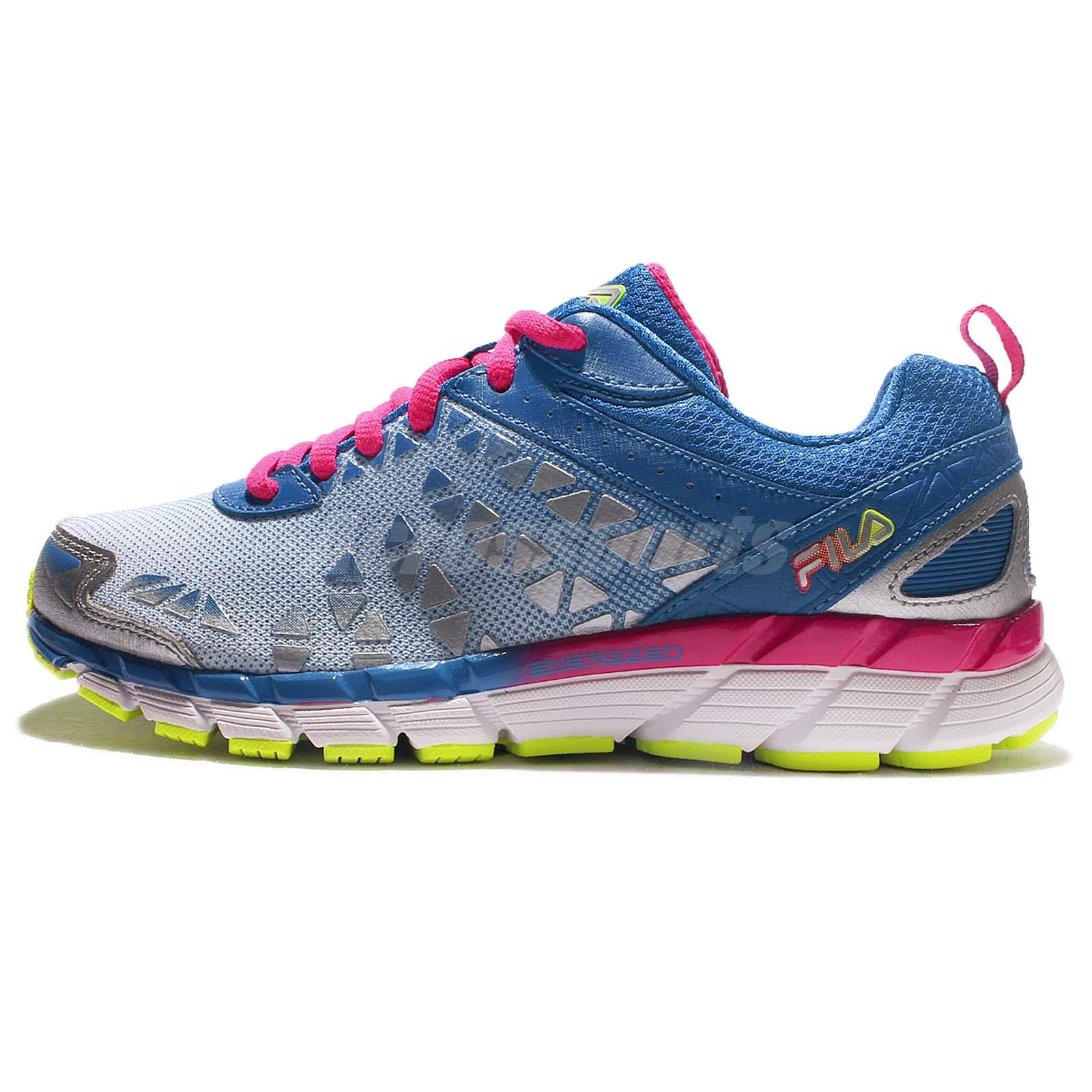 fila j530q blue pink silver womens running shoes sneakers