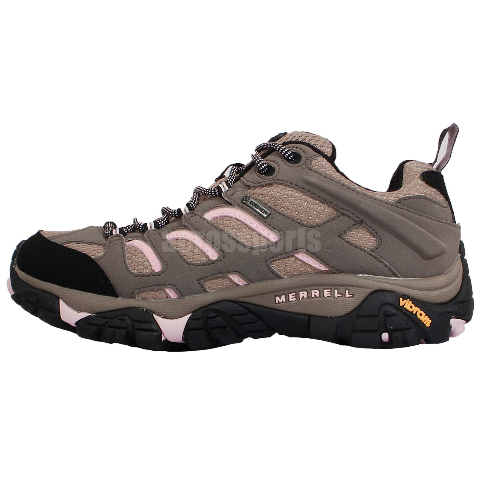 merrell moab tex grey pink womens outdoors hiking