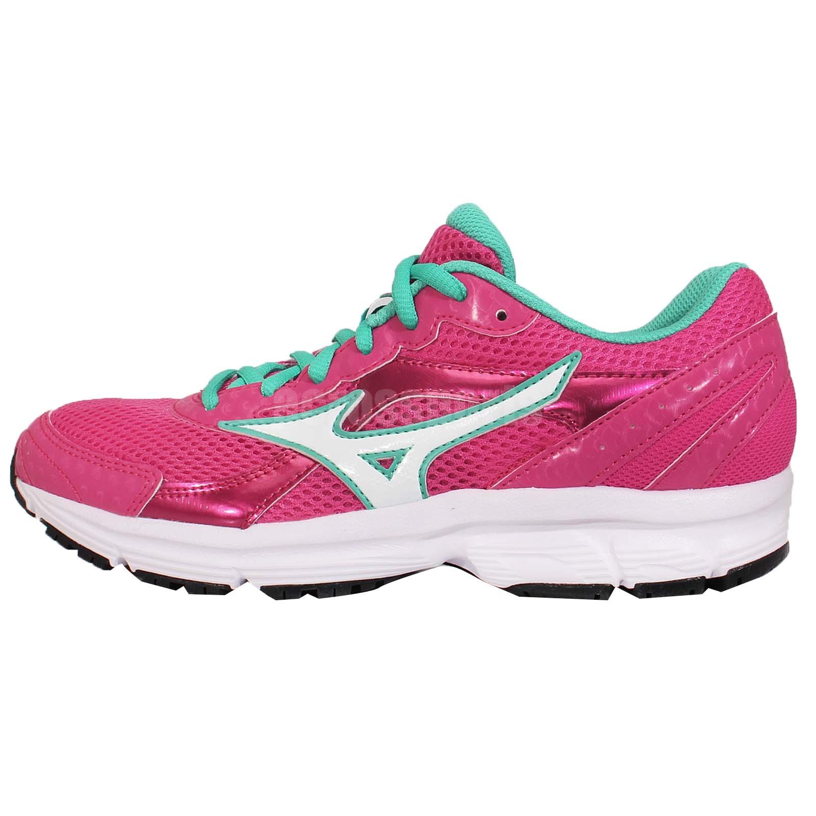 mizuno crusader 9 w pink green womens running