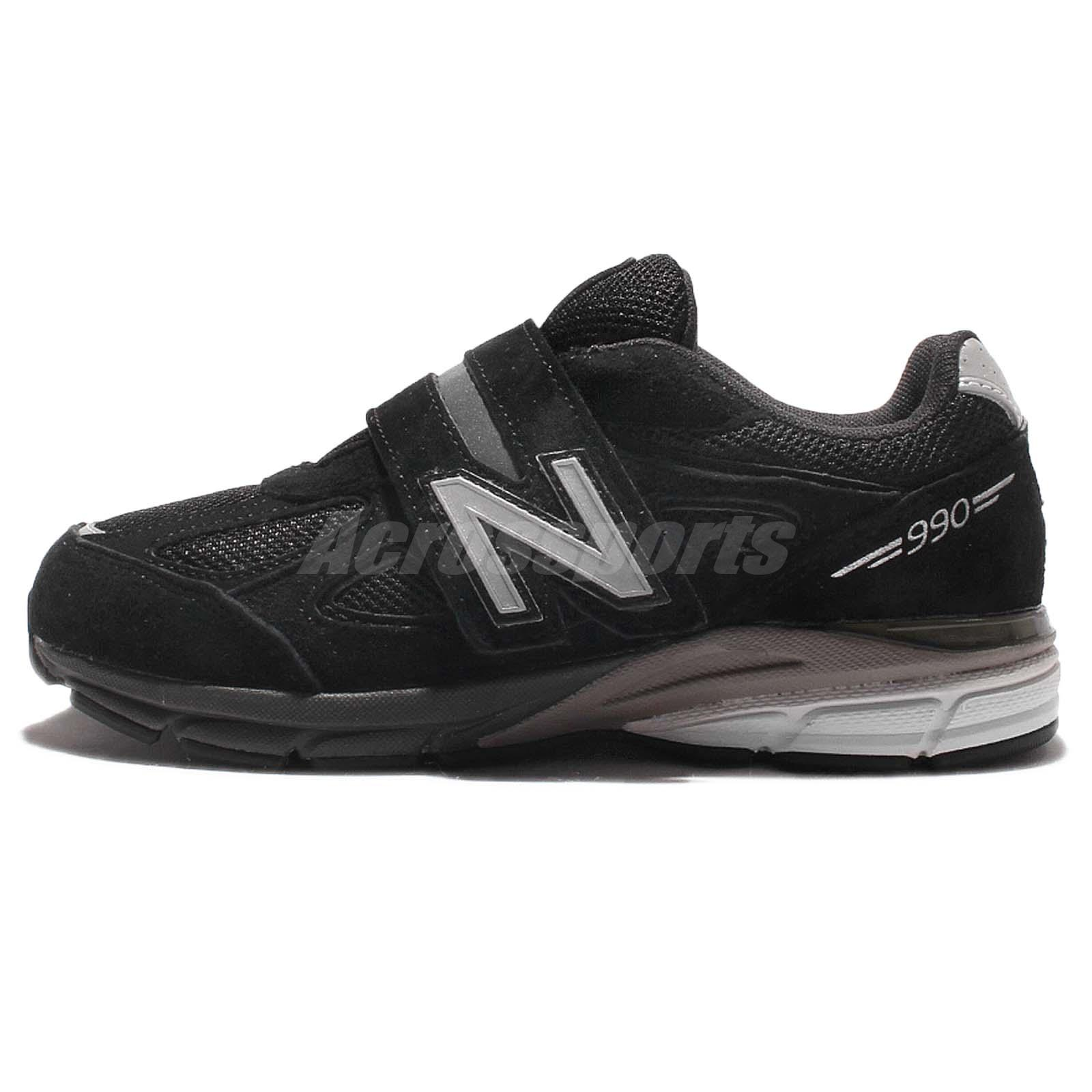 New Balance KV990BSP W Wide Black Kid Youth Running Shoes ...