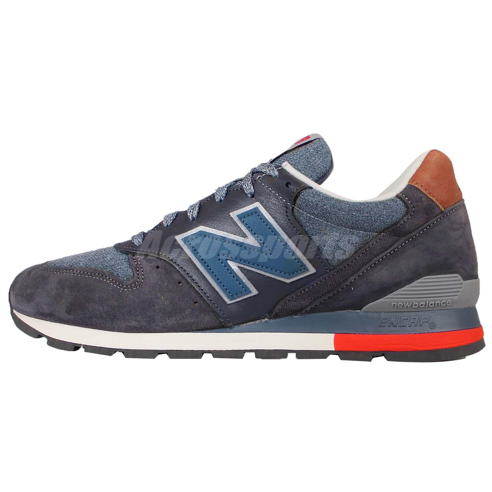 New Balance M996DSKI D Navy Grey Mens Retro Running Shoes ...