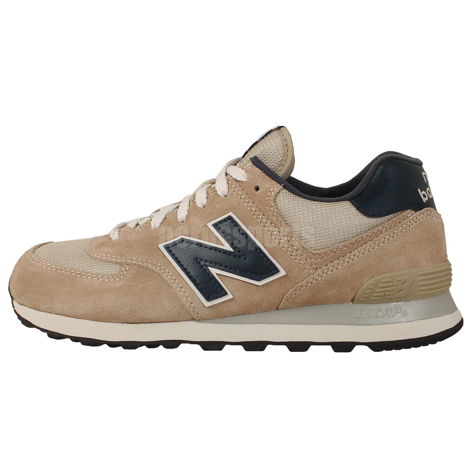 new balance ml574vbn d light brown mens retro running shoes sneakers 574 ebay. Black Bedroom Furniture Sets. Home Design Ideas