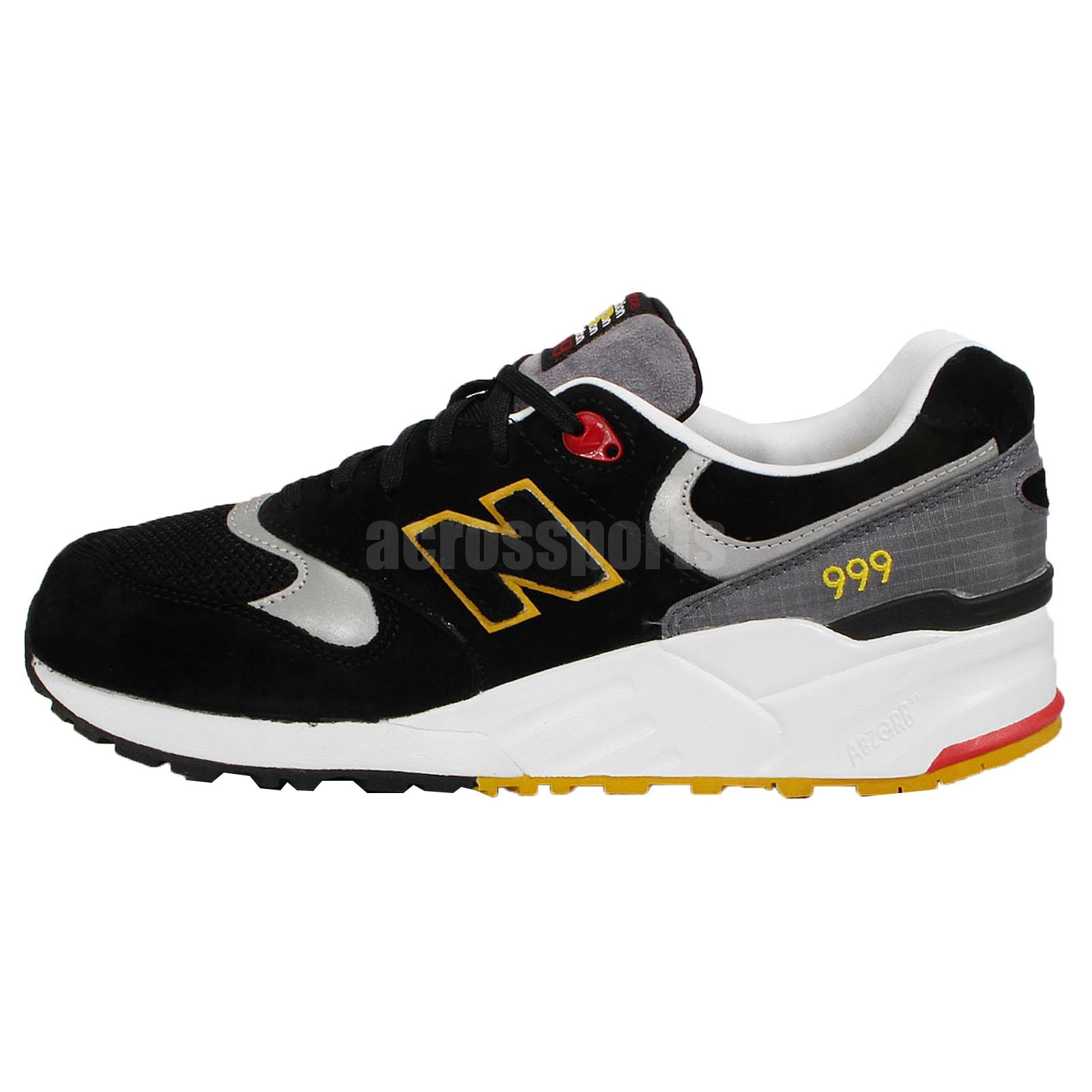 new balance ml999pb d black yellow white mens running