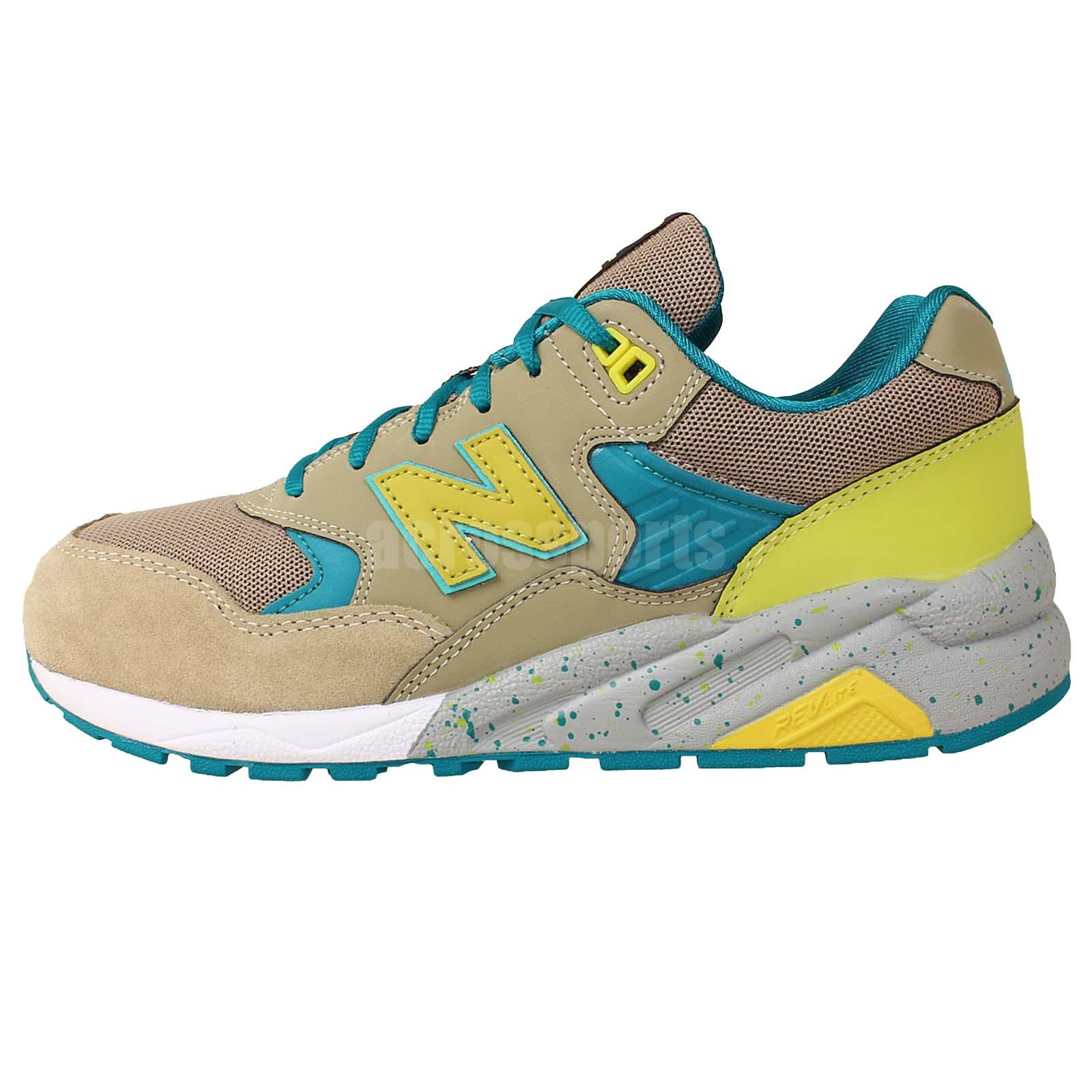 new balance mrt580bs dkhaki yellow green 2014 mens revlite running shoes sneaker. Black Bedroom Furniture Sets. Home Design Ideas