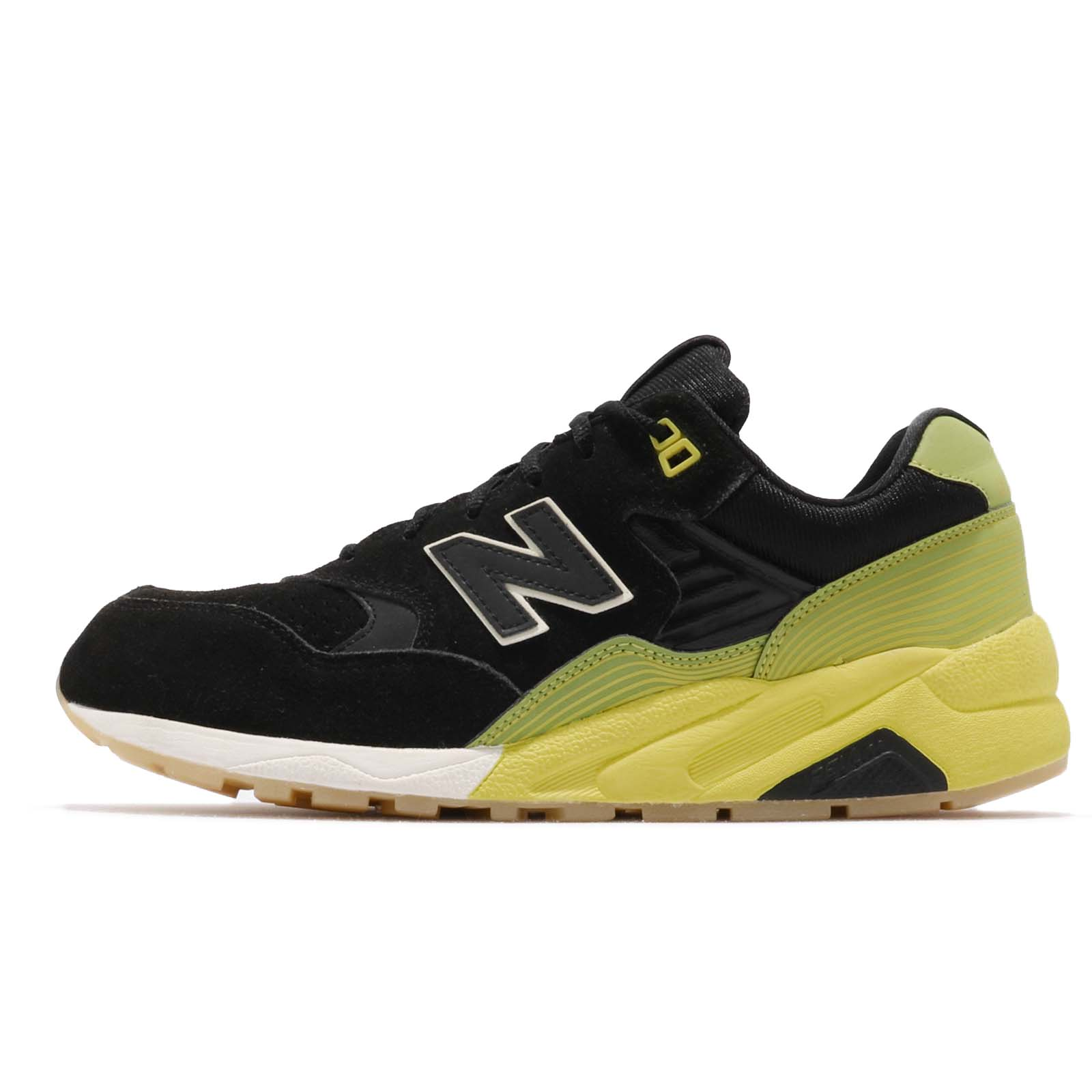 new balance mrt580ug d black yellow suede mens running