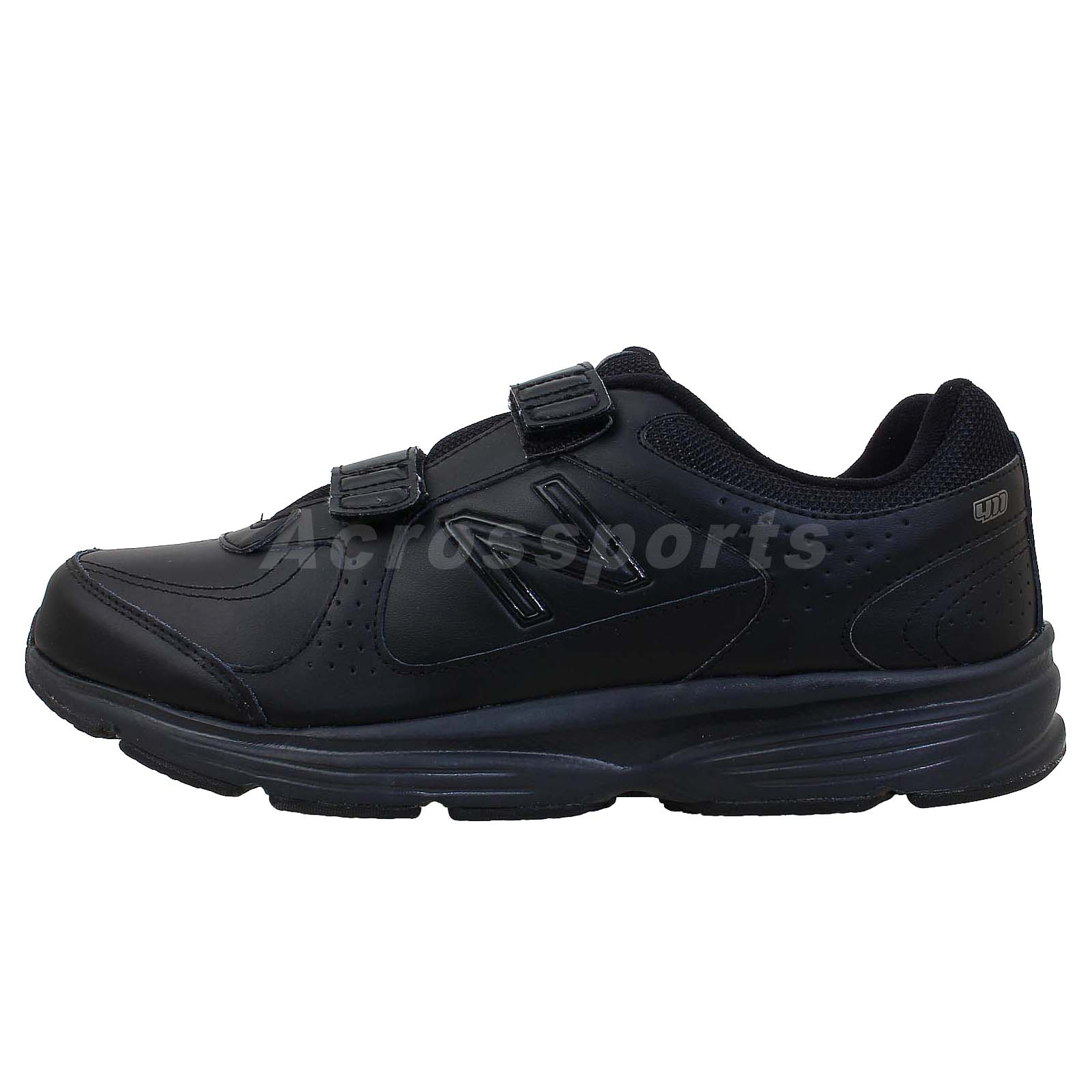 new balance mw411hbk 2e black out velcro 2013 mens walking