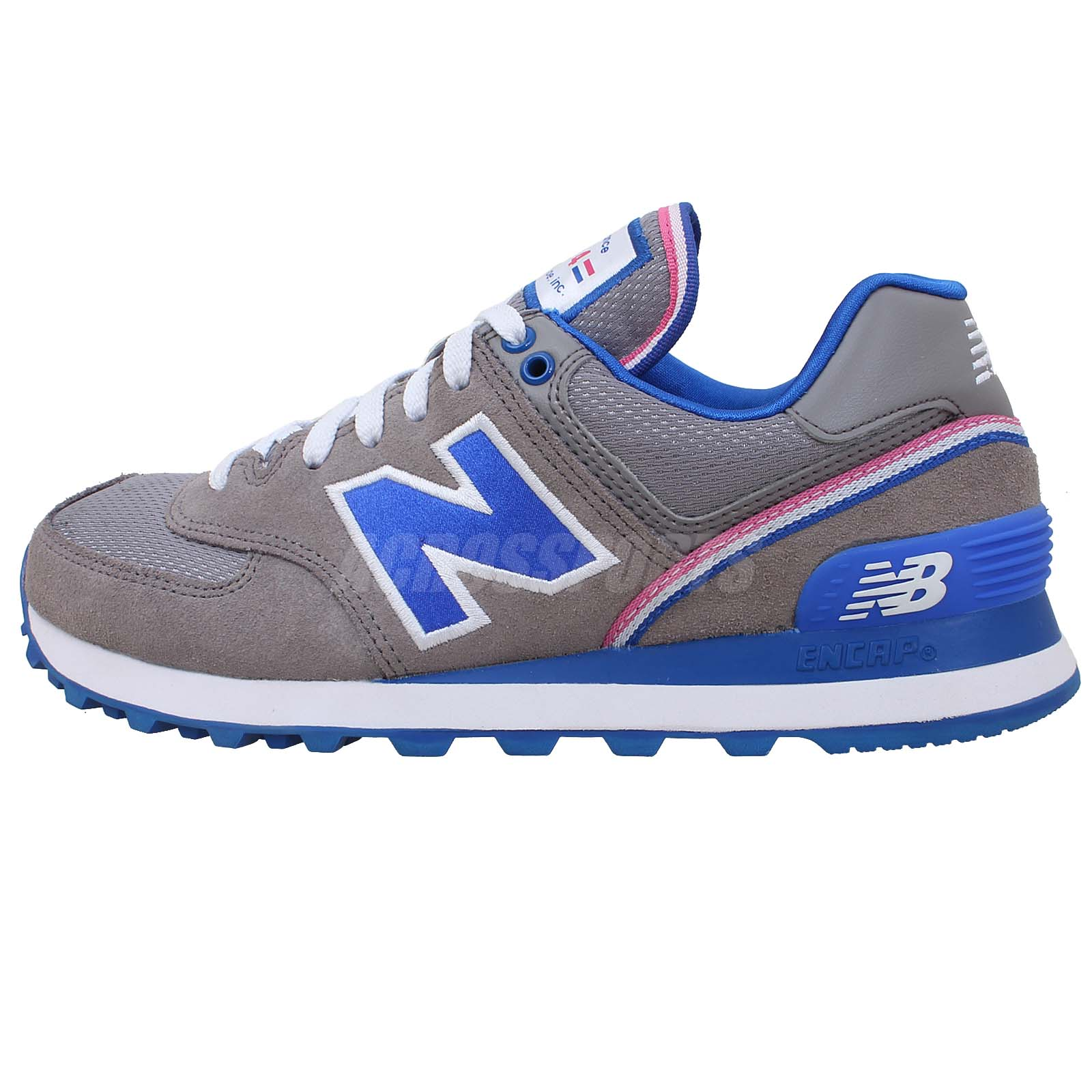 new balance wl574sjg b grey blue 2014 womens cute retro running shoes 574 ebay. Black Bedroom Furniture Sets. Home Design Ideas