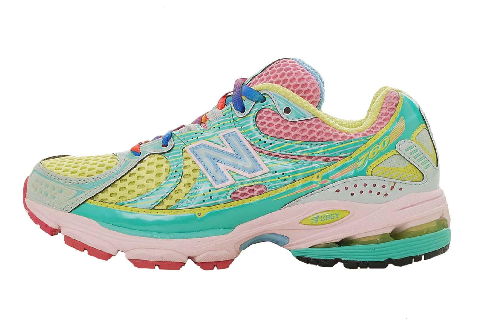 New Balance  Womens Rainbow Multi Color Running Shoes