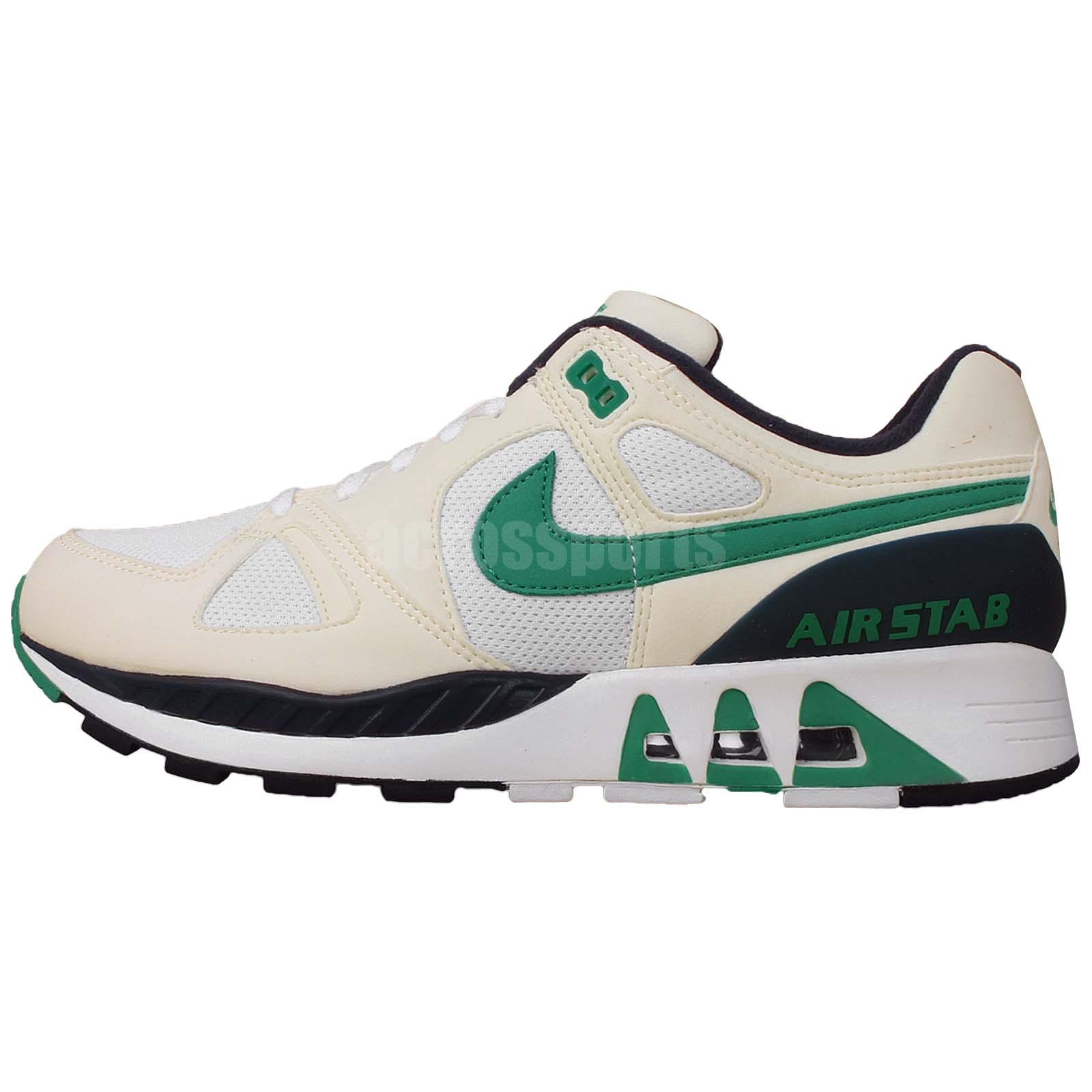 nike air stab white green navy nsw mens retro running