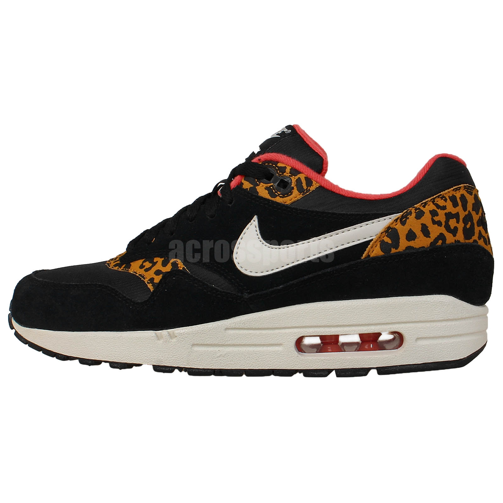nike wmns air max 1 black leopard animal womens running