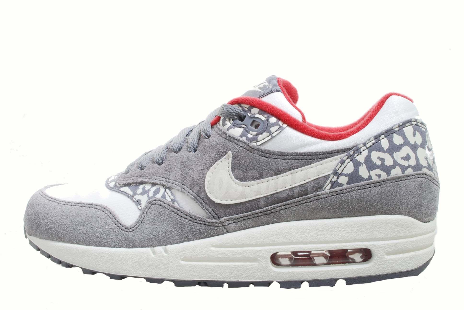 nike wmns air max 1 leopard charcoal sail womens running shoes atomos 319986 099 ebay