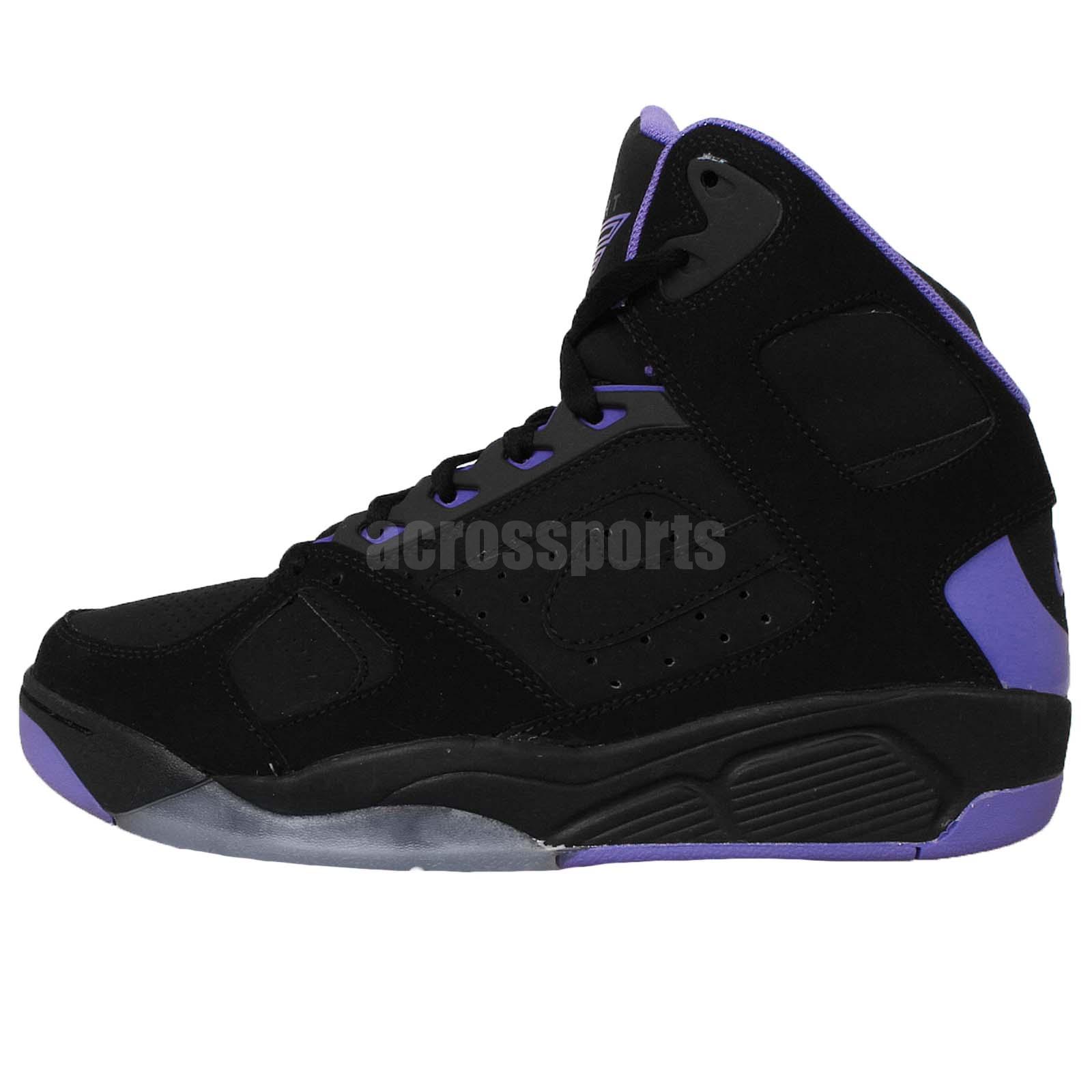 nike air flight lite high black purple 2015 retro basketball shoes sneakers ebay. Black Bedroom Furniture Sets. Home Design Ideas