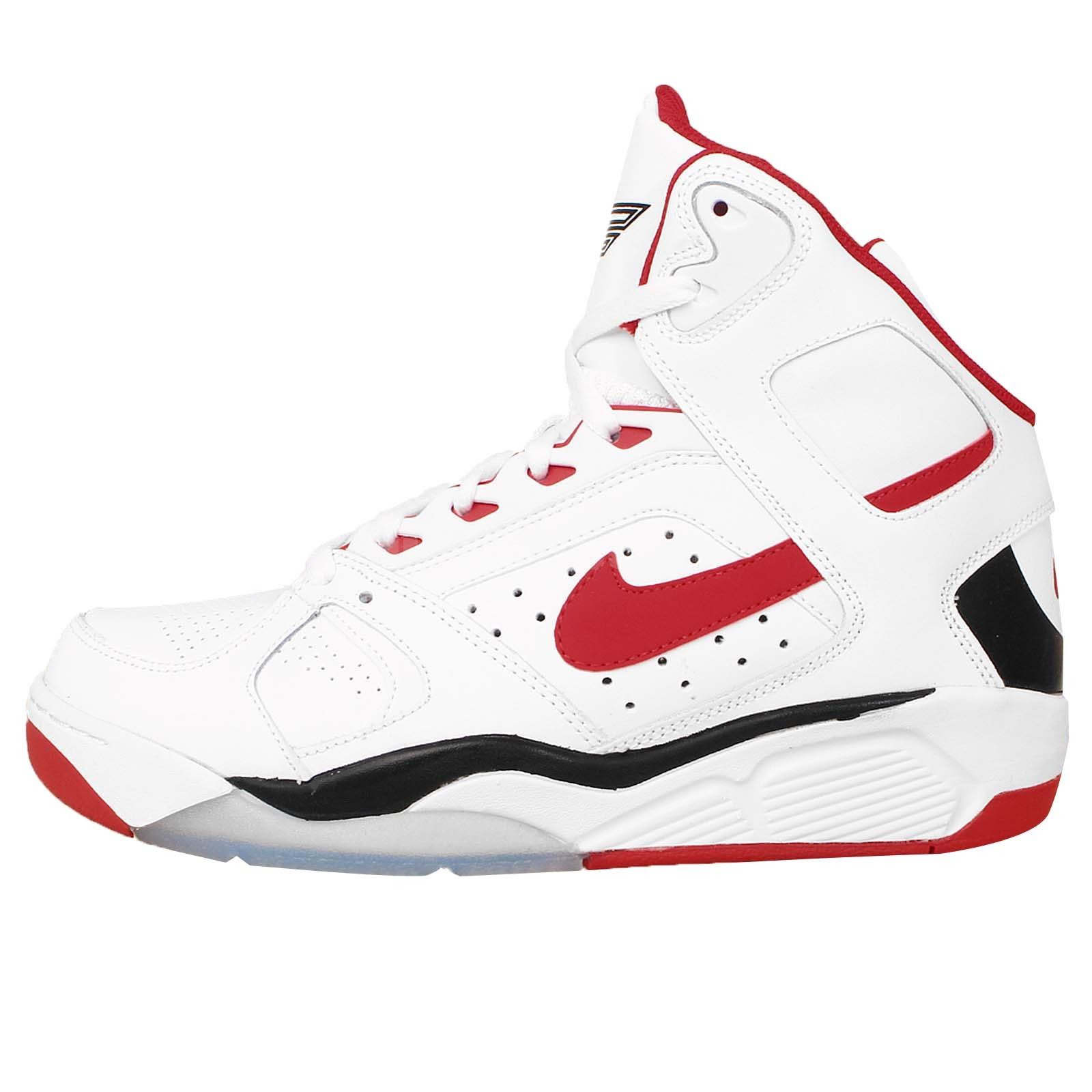 nike air flight lite high white red black og mens basketball shoes 329984 103 ebay. Black Bedroom Furniture Sets. Home Design Ideas