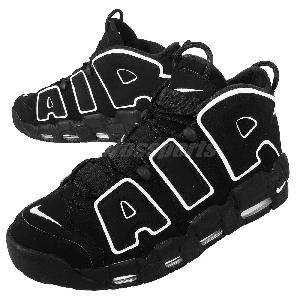 Nike Air More Uptempo Black White Pippen Mens Basketball Shoes 414962-002