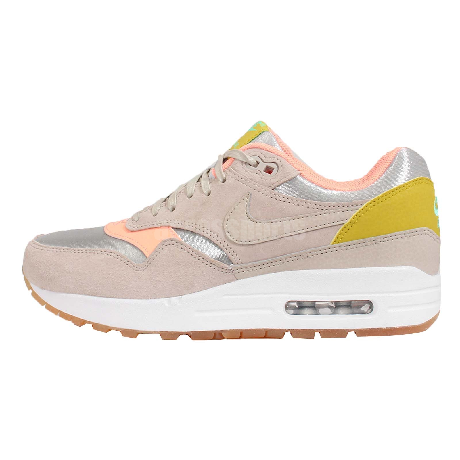 Wmns Nike Air Max 1 PRM Premium Sunset Glow NSW Womens Running Shoes 454746-006