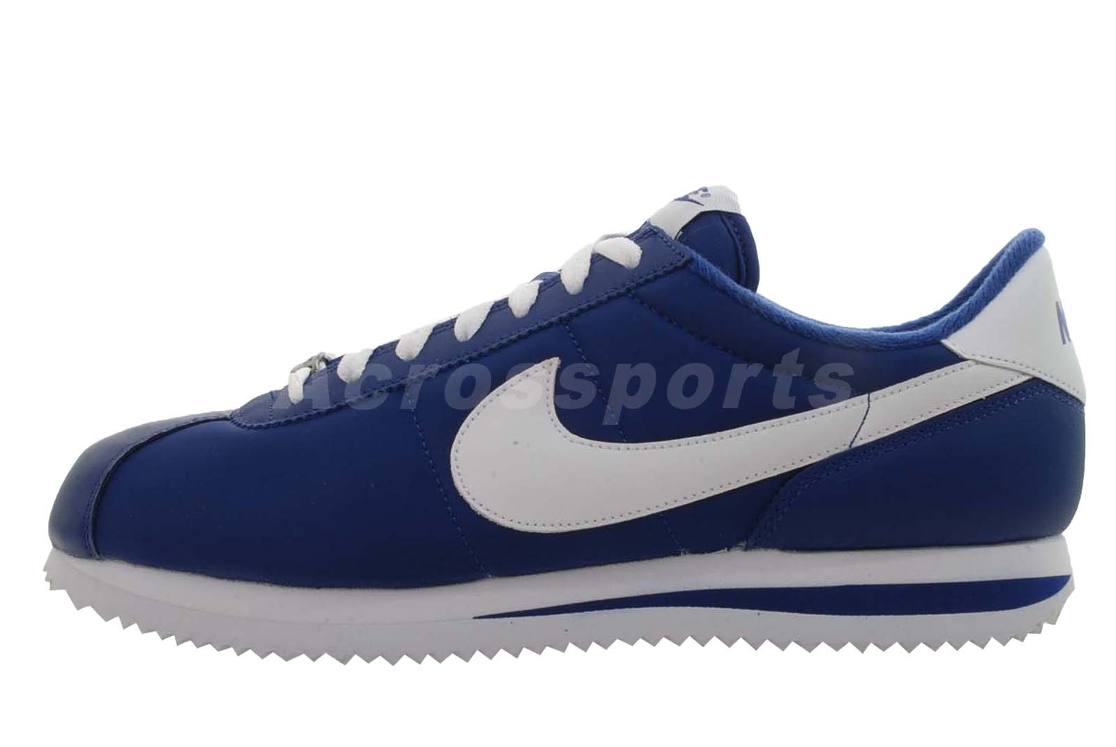 nike cortez trainers blue