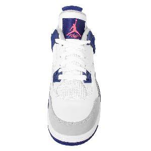 nike dunk anthracite obsidienne - Nike Girls Air Jordan 4 Retro GS Knicks IV White Blue Orange ...