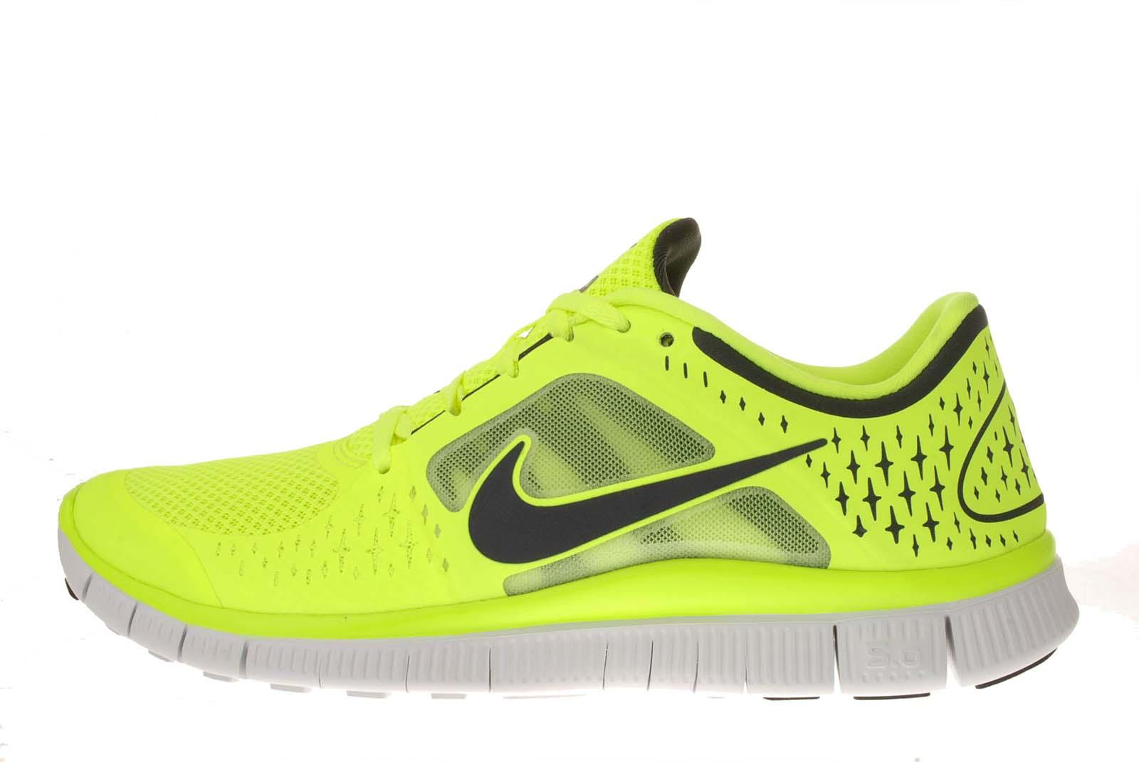 Nike Free Run 3 Volt Black Barefoot Lightweight Mens ...
