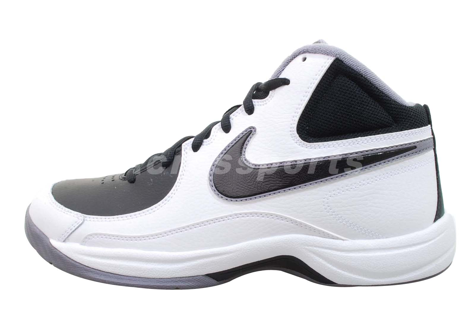 nike the overplay vii white black mens basketball shoes
