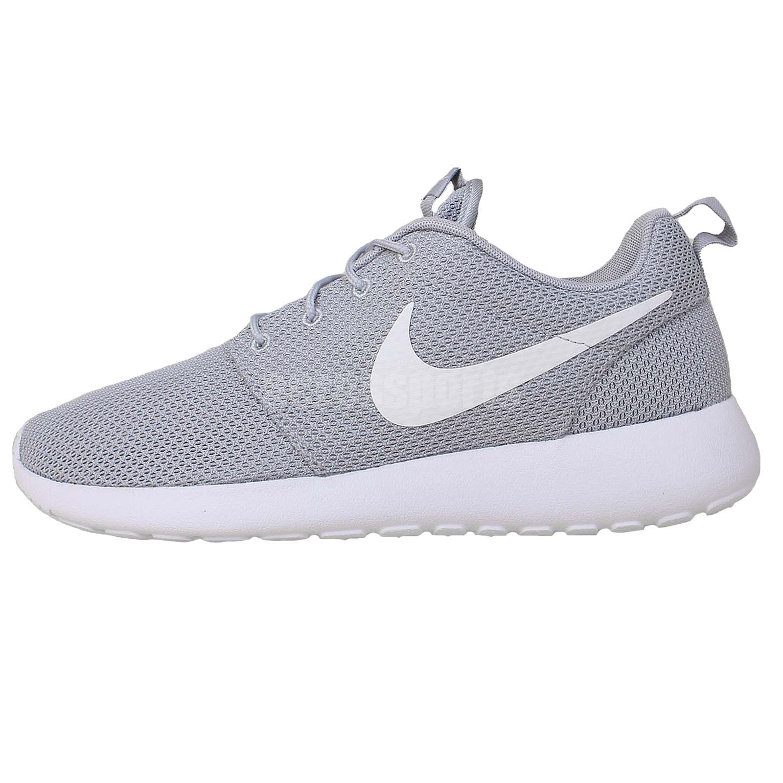 nike roshe run men's all white nursing shoes