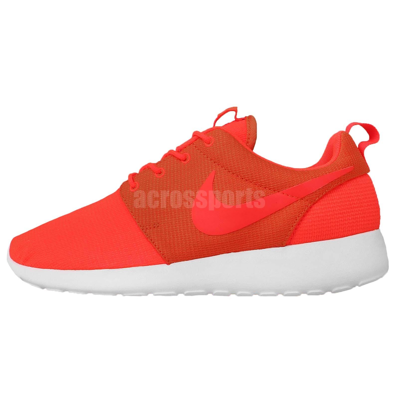 nike rosherun roshe run orange crimson white mens running. Black Bedroom Furniture Sets. Home Design Ideas
