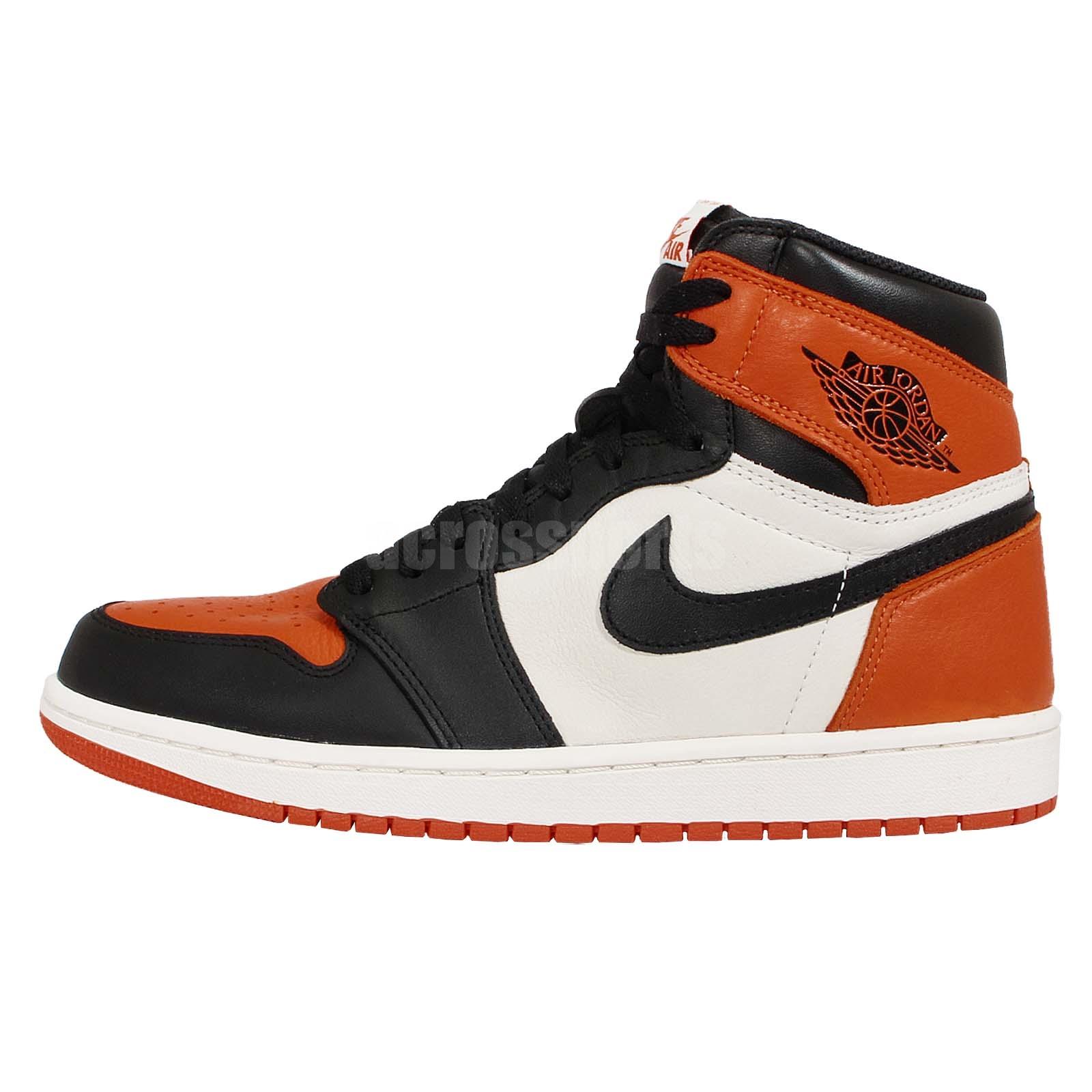 Nike Air Jordan 1 Retro High OG Shattered Backboard Black Orange AJ1 555088 005 eBay