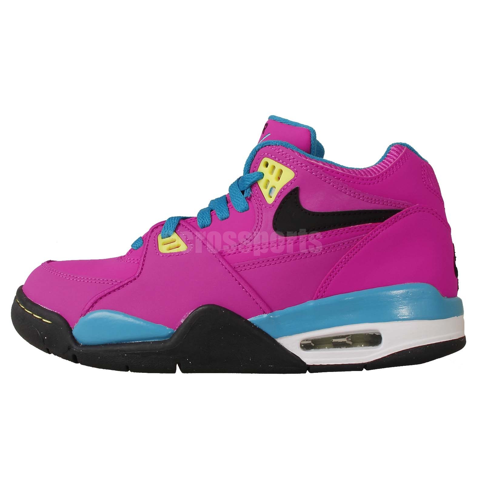 nike air flight 89 gs pink blue black girls youth womens