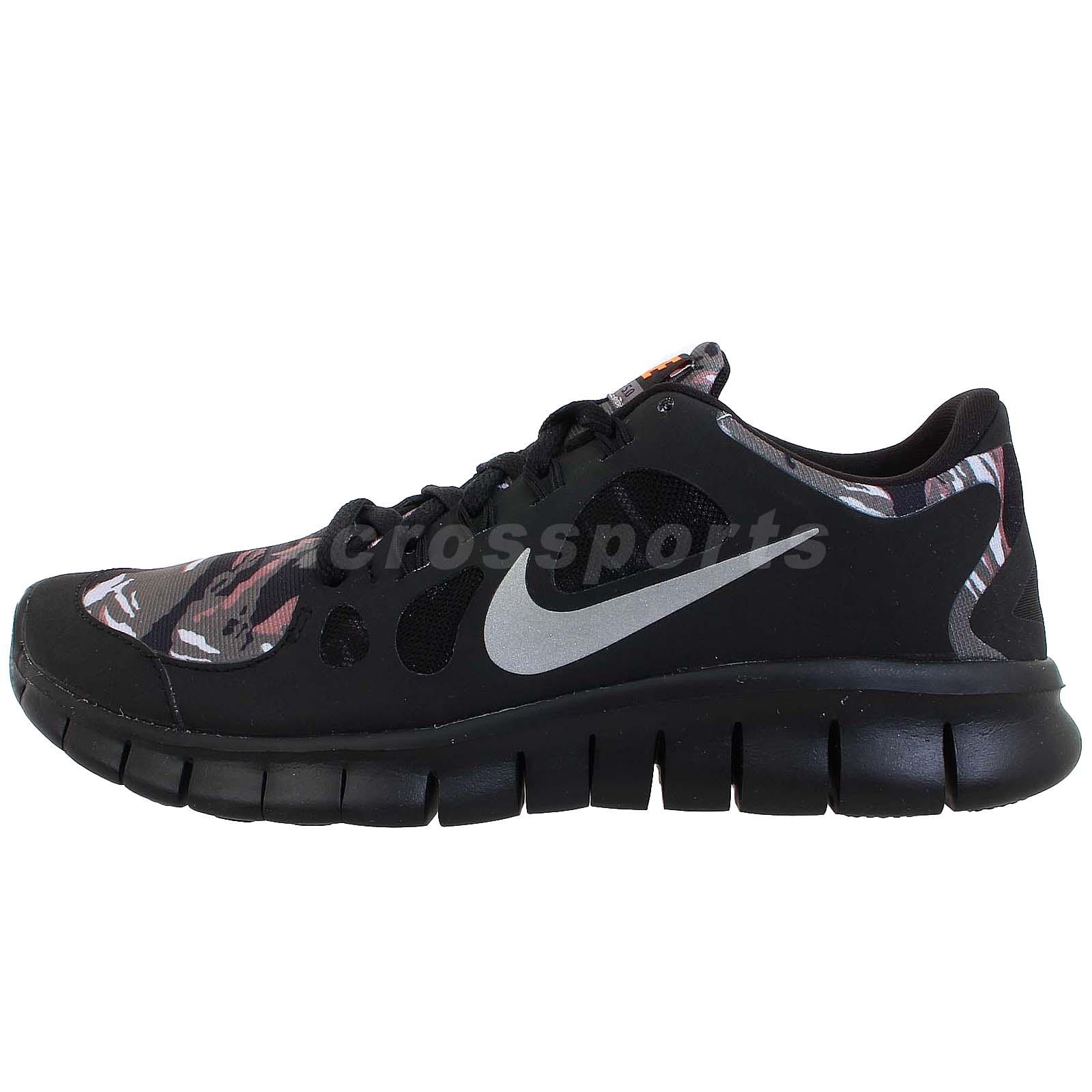 Nike Free 5 0 GS Black Silver Camo Girls Boys Youth Womens Running