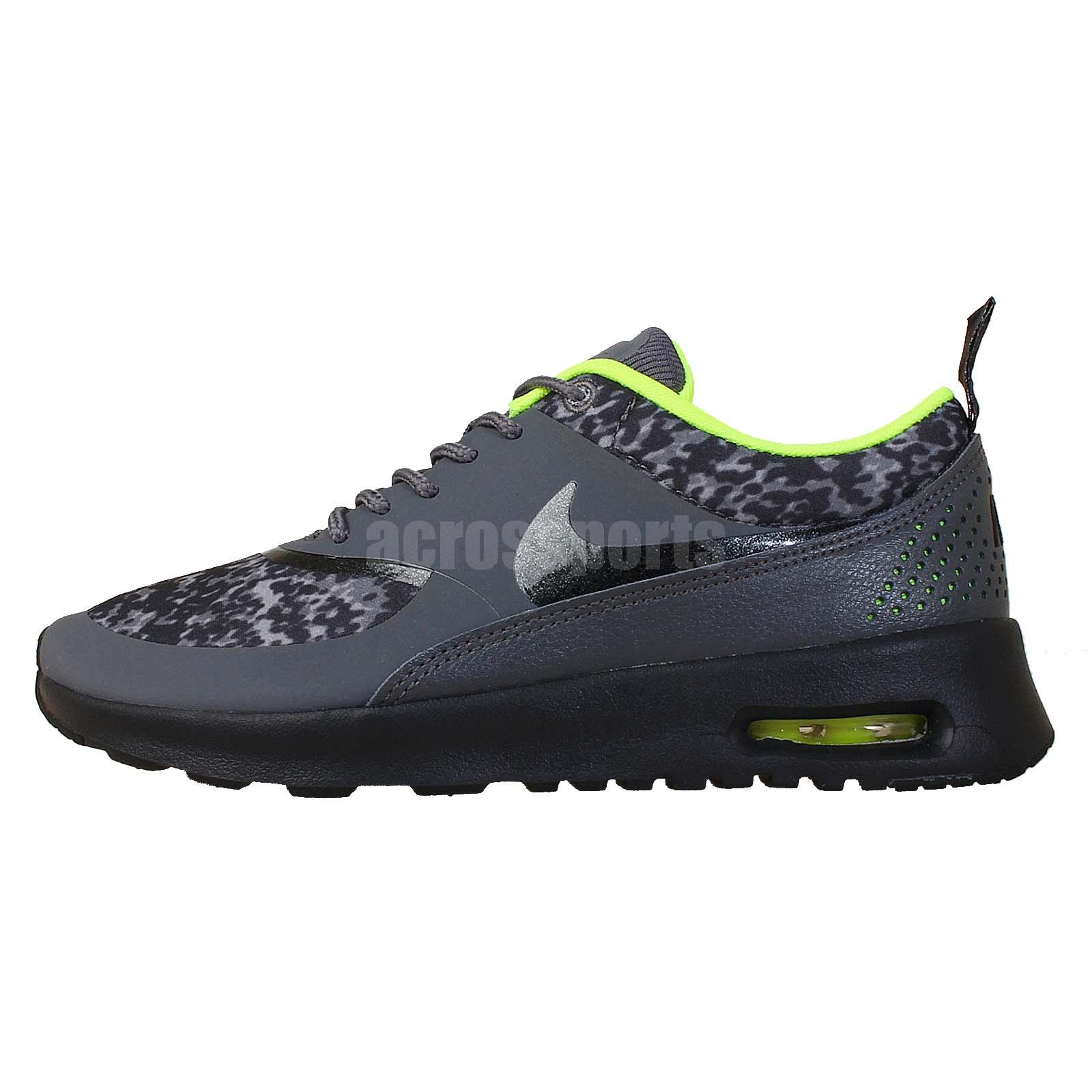 wmns nike air max thea print grey volt leopard womens running shoes 599408 006 ebay