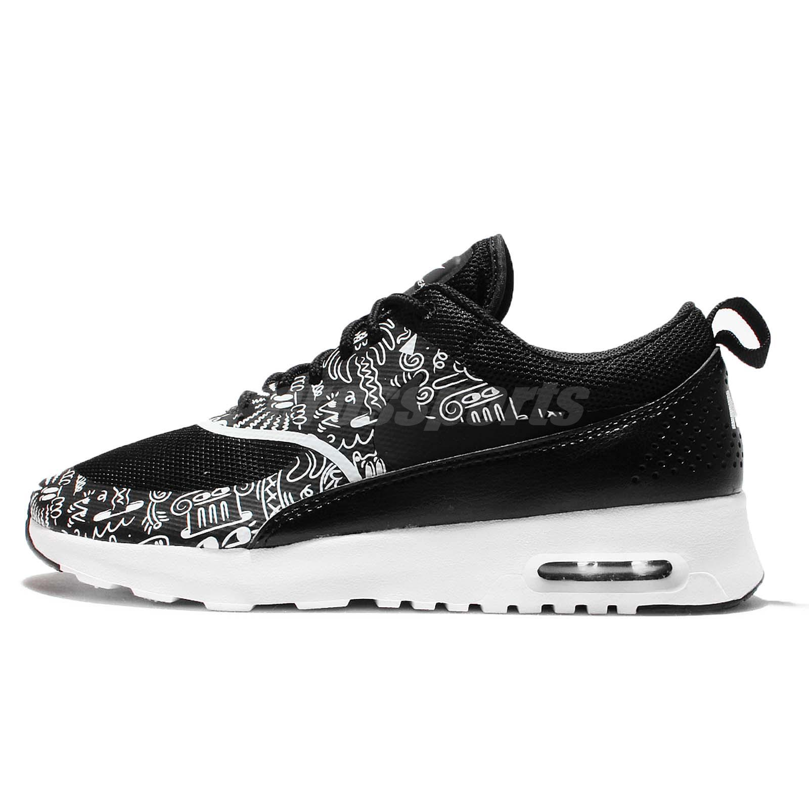 Wmns Nike Air Max Thea Print Black White Women Running Shoes Sneakers 599408 011