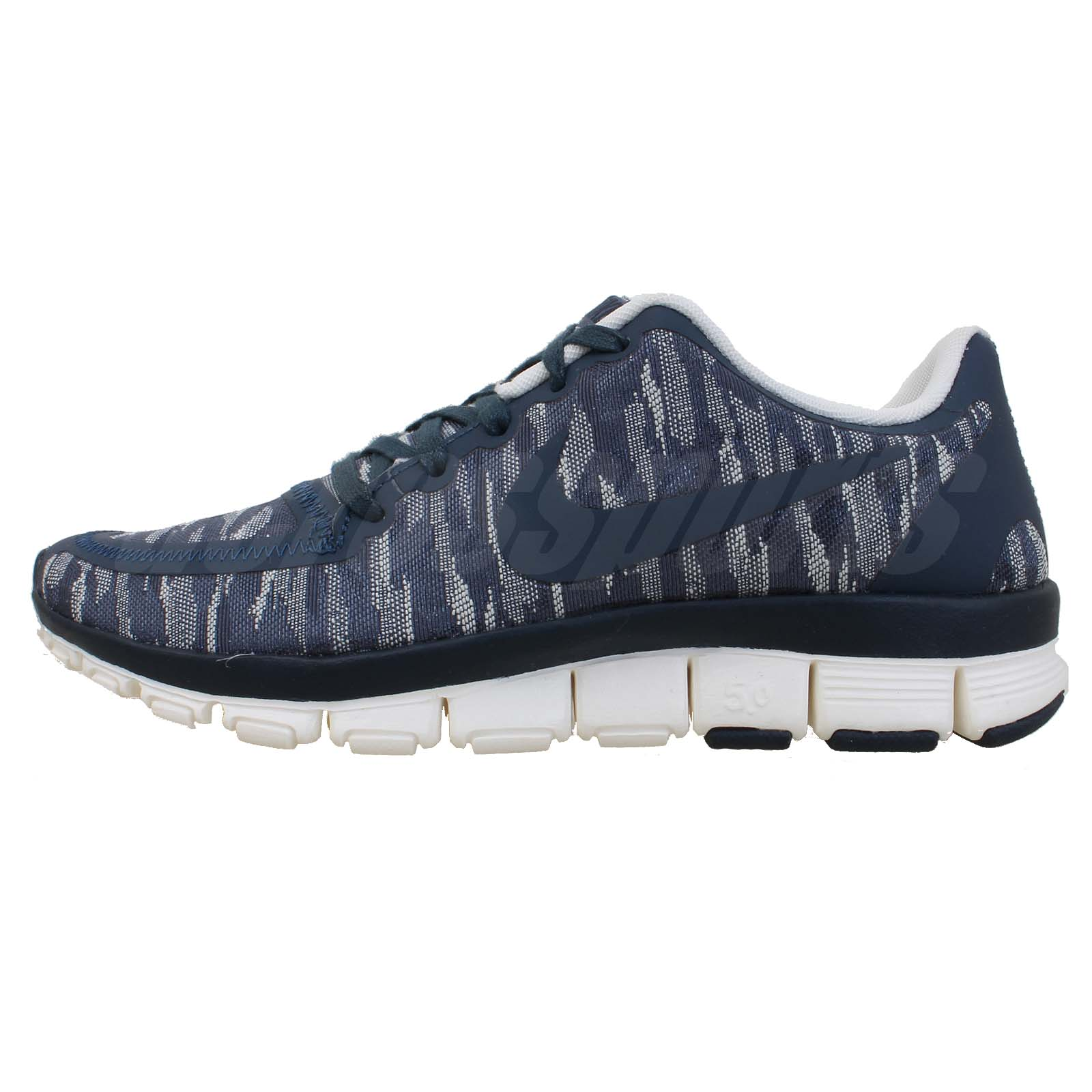 Nike Wmns Free 5.0 V4 PRM Premium Navy Camo Womens Running Shoes