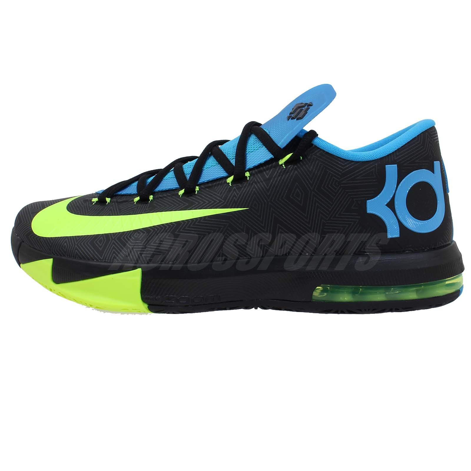 Nike KD VI 6 Kevin Durant Black Blue Volt Air Max 2014 ...
