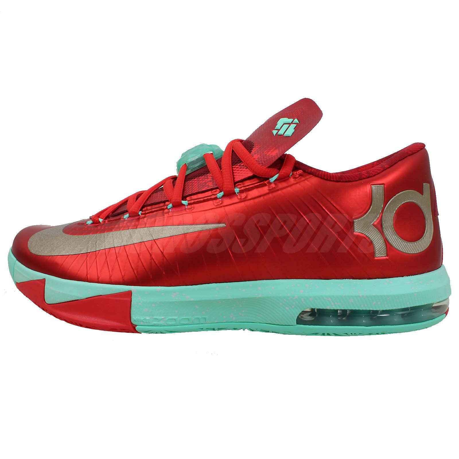 Nike KD VI 6 Christmas Pack Xmas Zoom Air Max 599424 601 ...