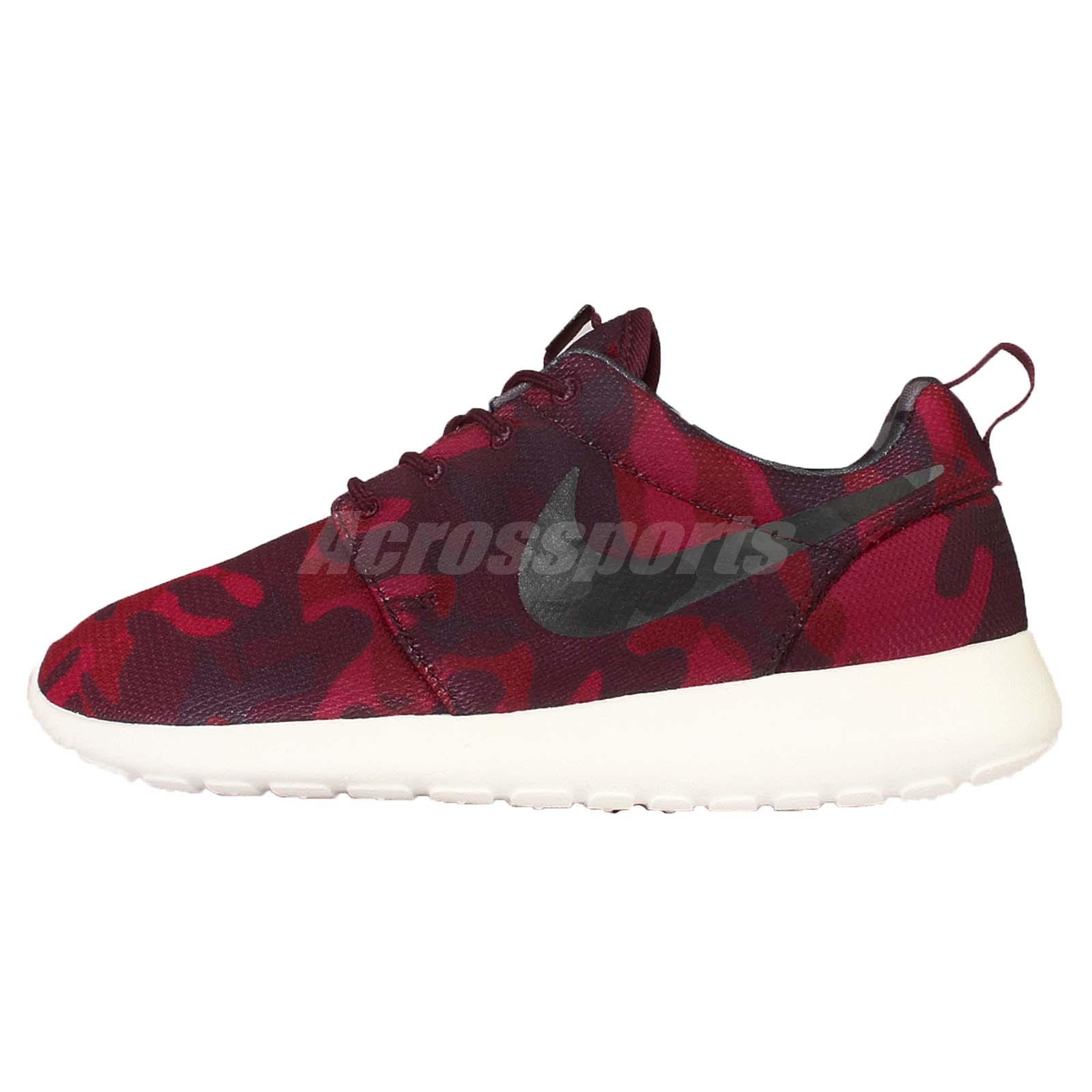 wmns nike roshe one print red camo rosherun womens running. Black Bedroom Furniture Sets. Home Design Ideas