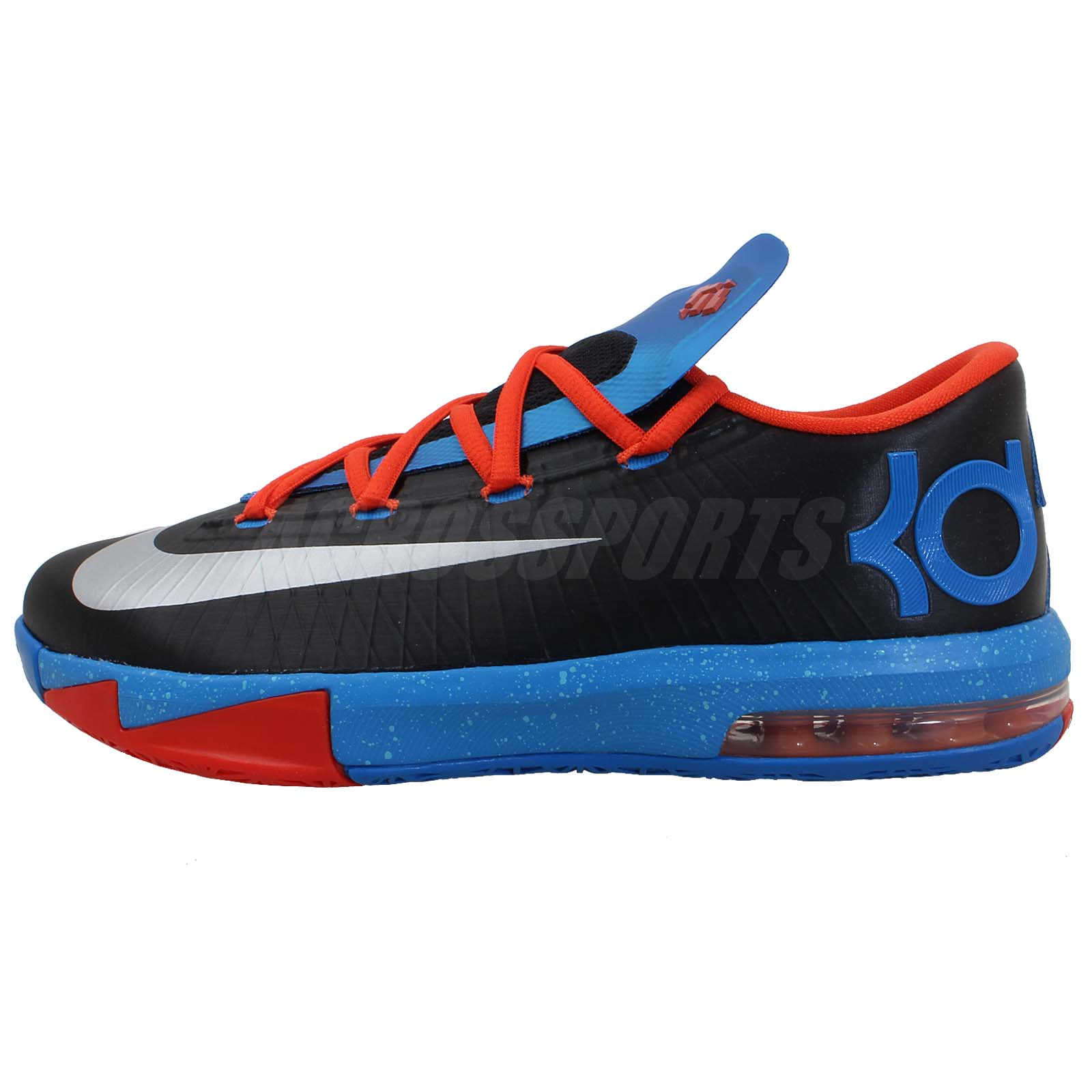 Nike KD VI GS 6 Kevin Durant Black Blue Boys Youth Thunder ...