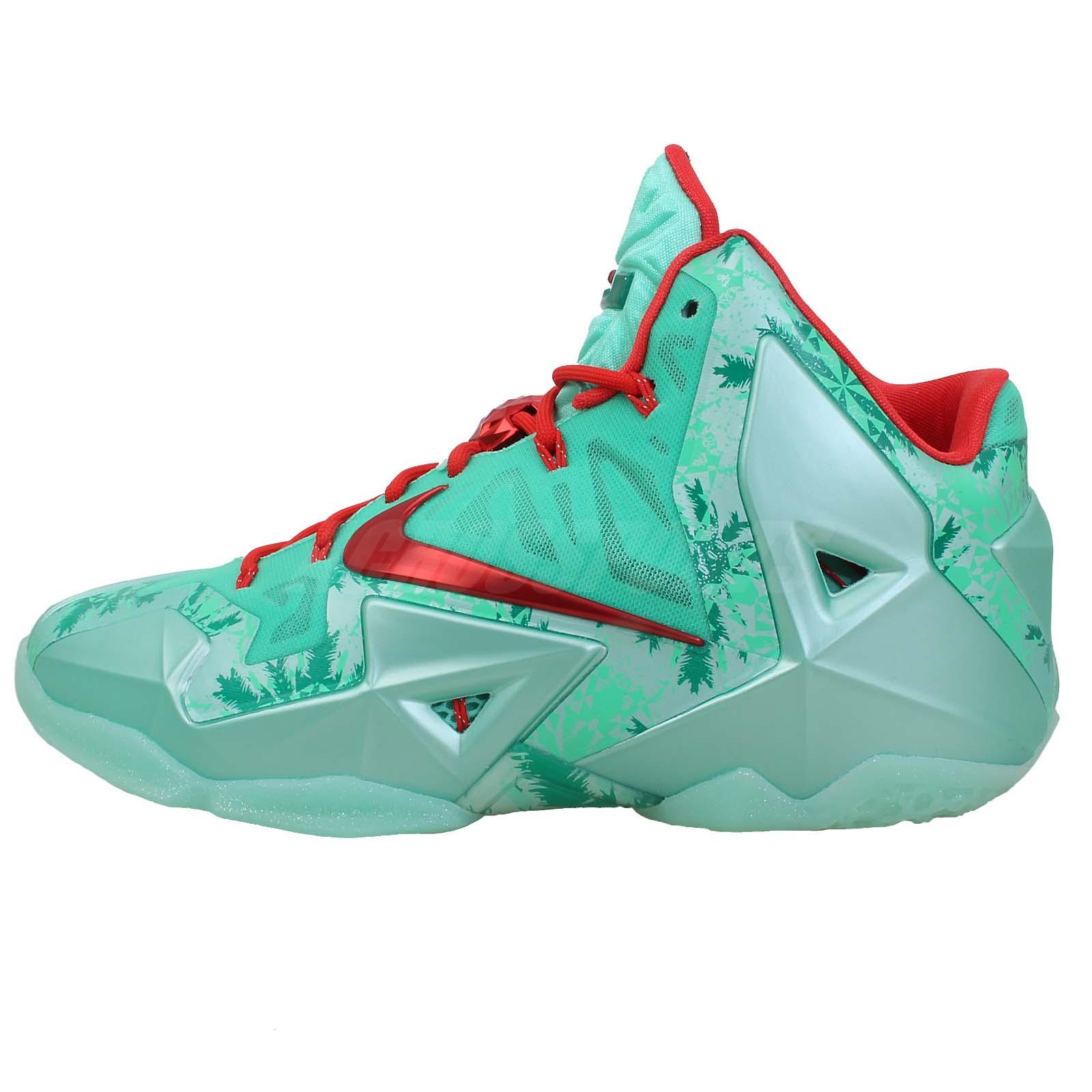 Lebron 11 Christmas Green Details about Nike Leb...