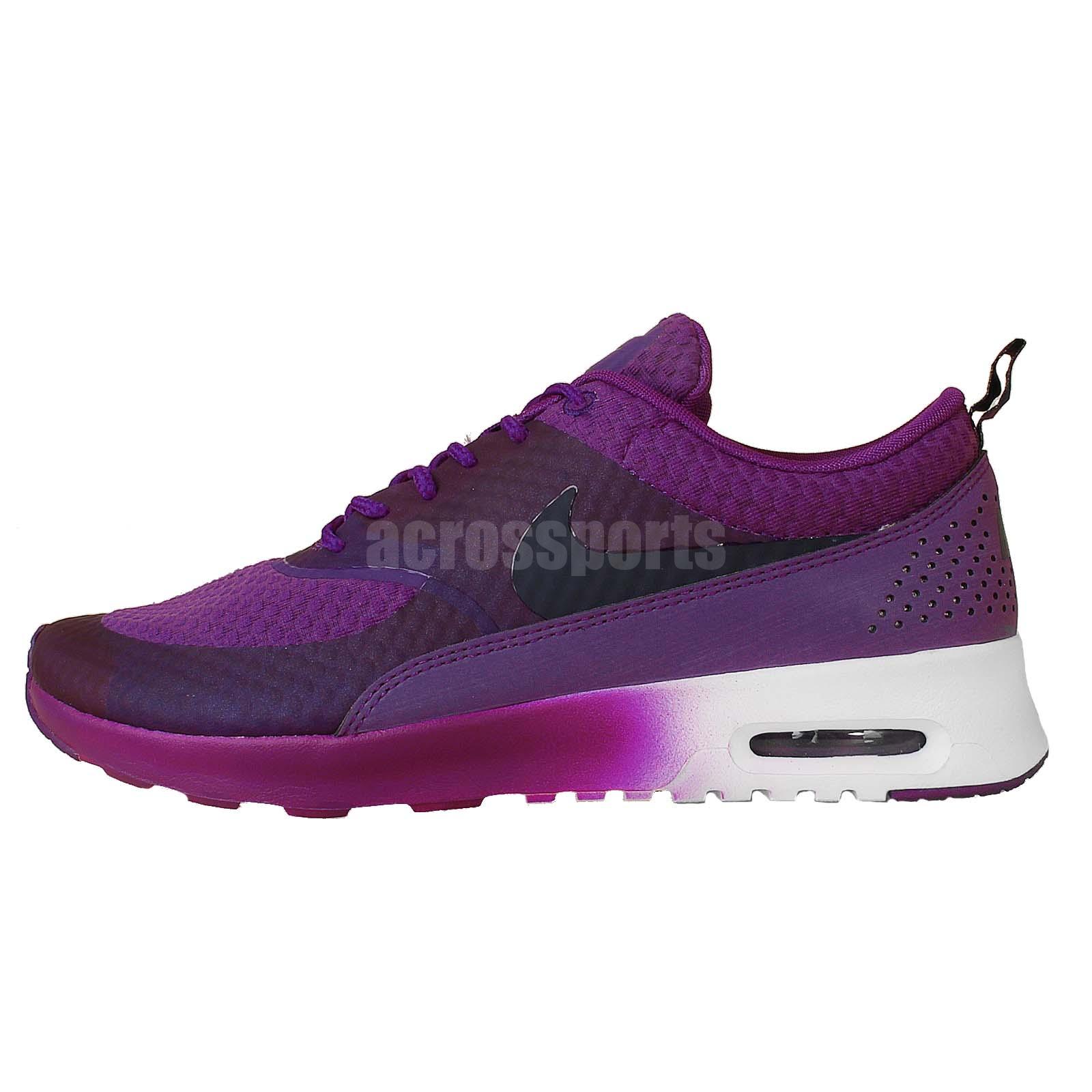 Nike Womens Air Max Thea Prm Premium Running Shoes Purple