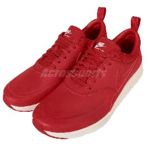 Wmns Nike Air Max Thea PRM Premium Red Womens Running Shoes Sneakers 616723-602