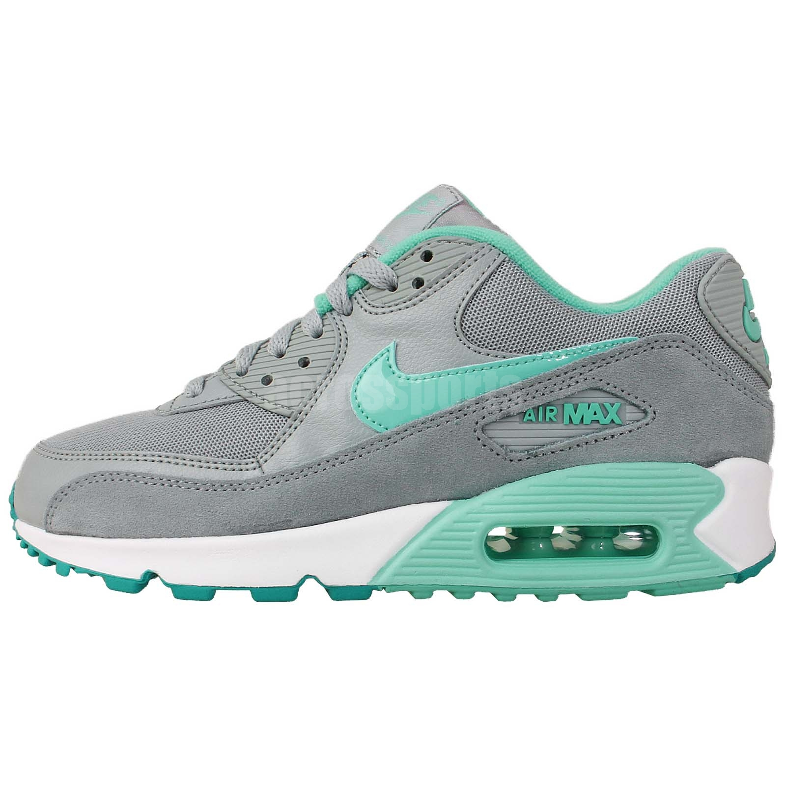 nike wmns air max 90 essential grey turquoise 2014 womens