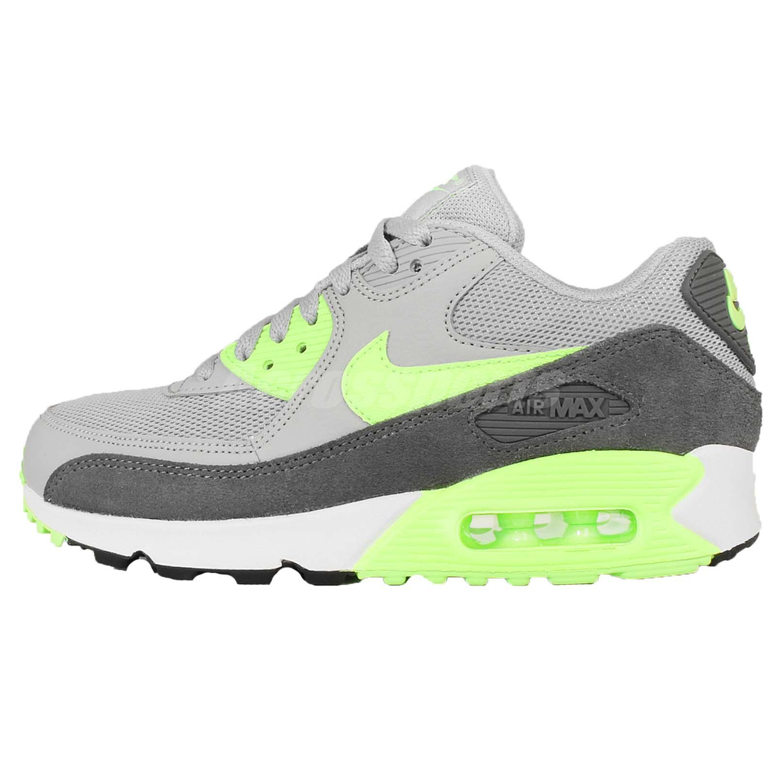 wmns nike air max 90 essential grey green womens nsw. Black Bedroom Furniture Sets. Home Design Ideas