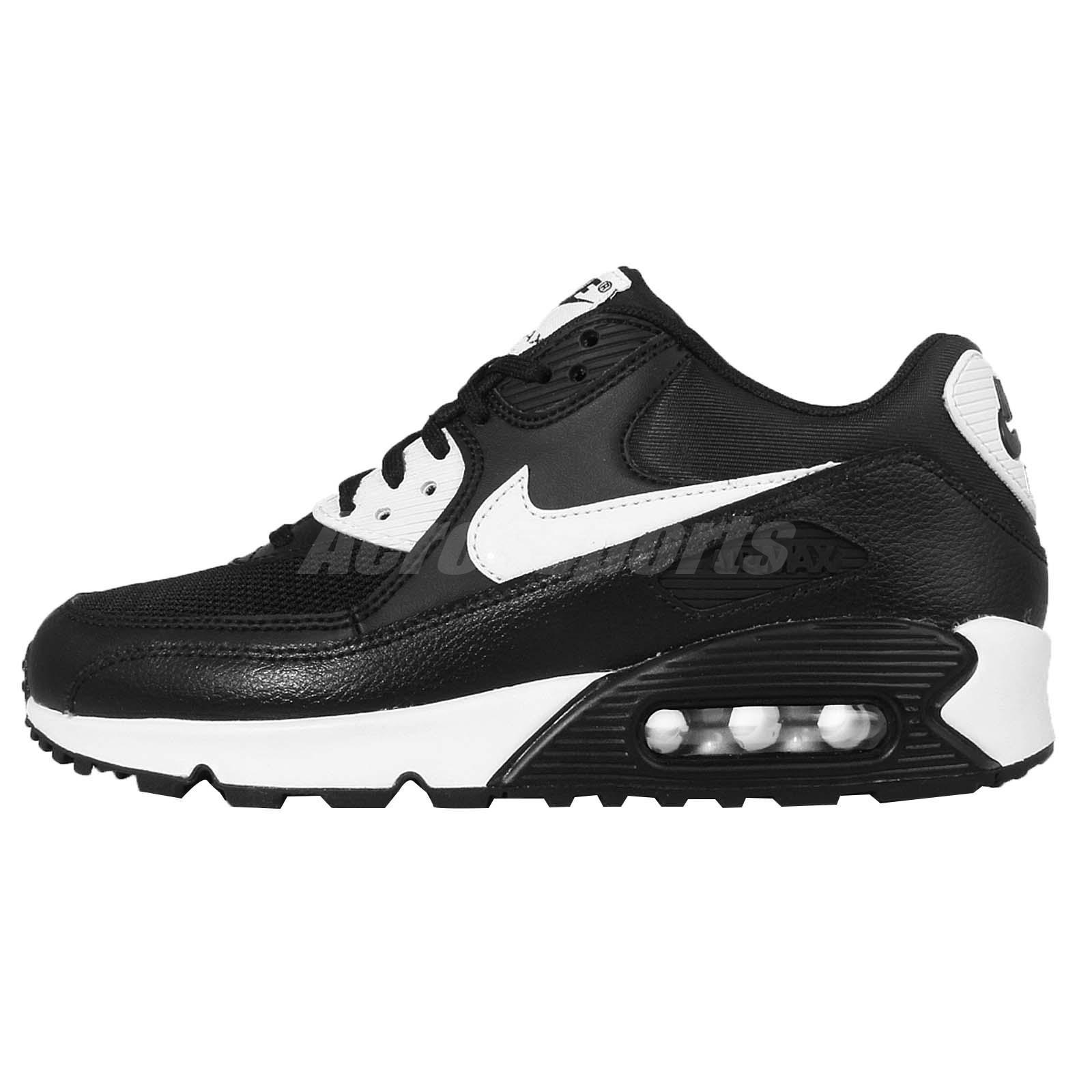 Wmns Nike Air Max 90 Essential Black White NSW Womens Running ...
