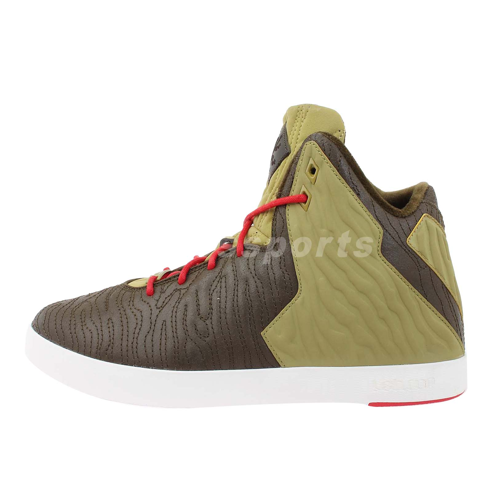 nike lebron xi nsw lifestyle 11 brown green 2013 new