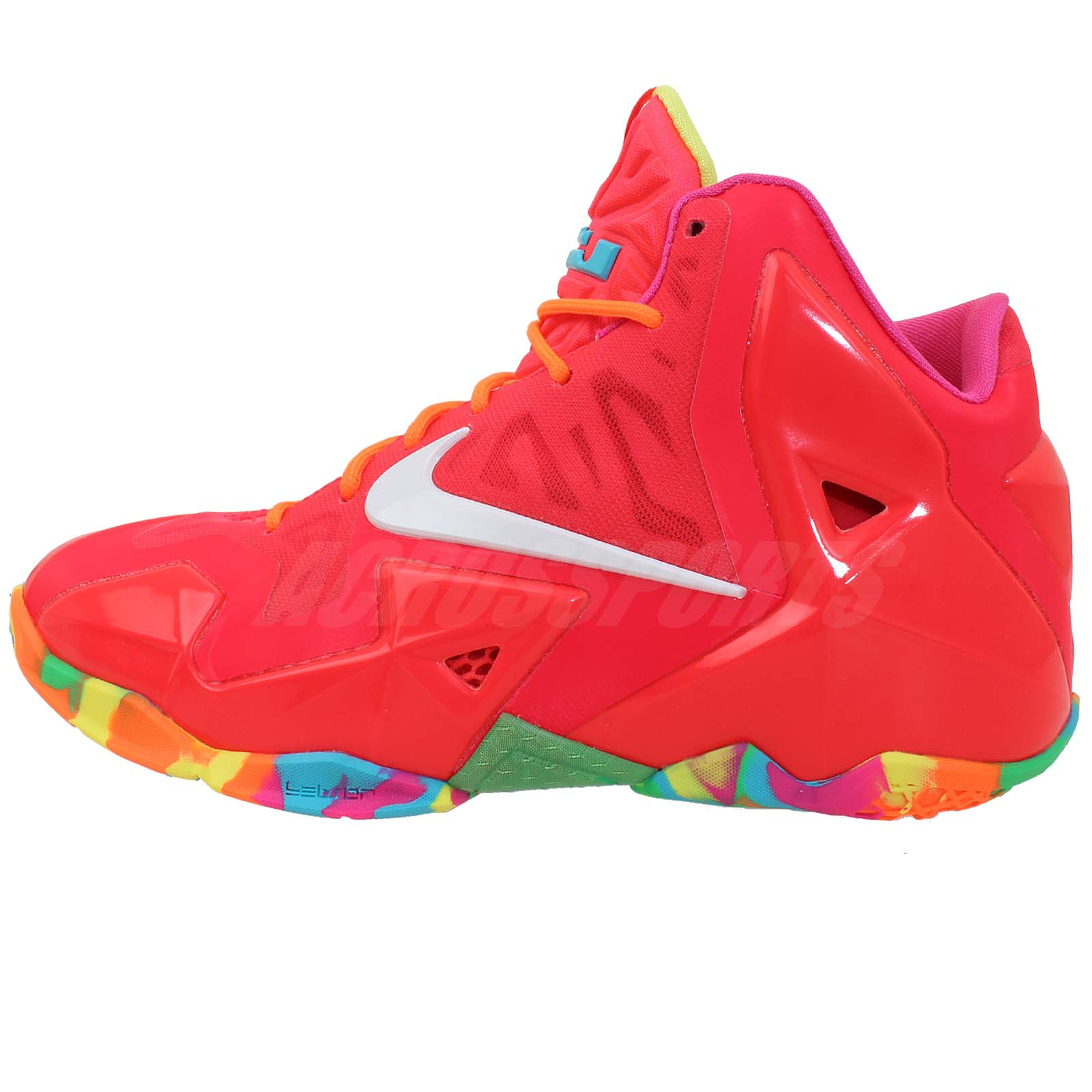 Details about Nike Lebron XI GS 11 Fruity Pebbles Pink 2014 Boys Girls ...